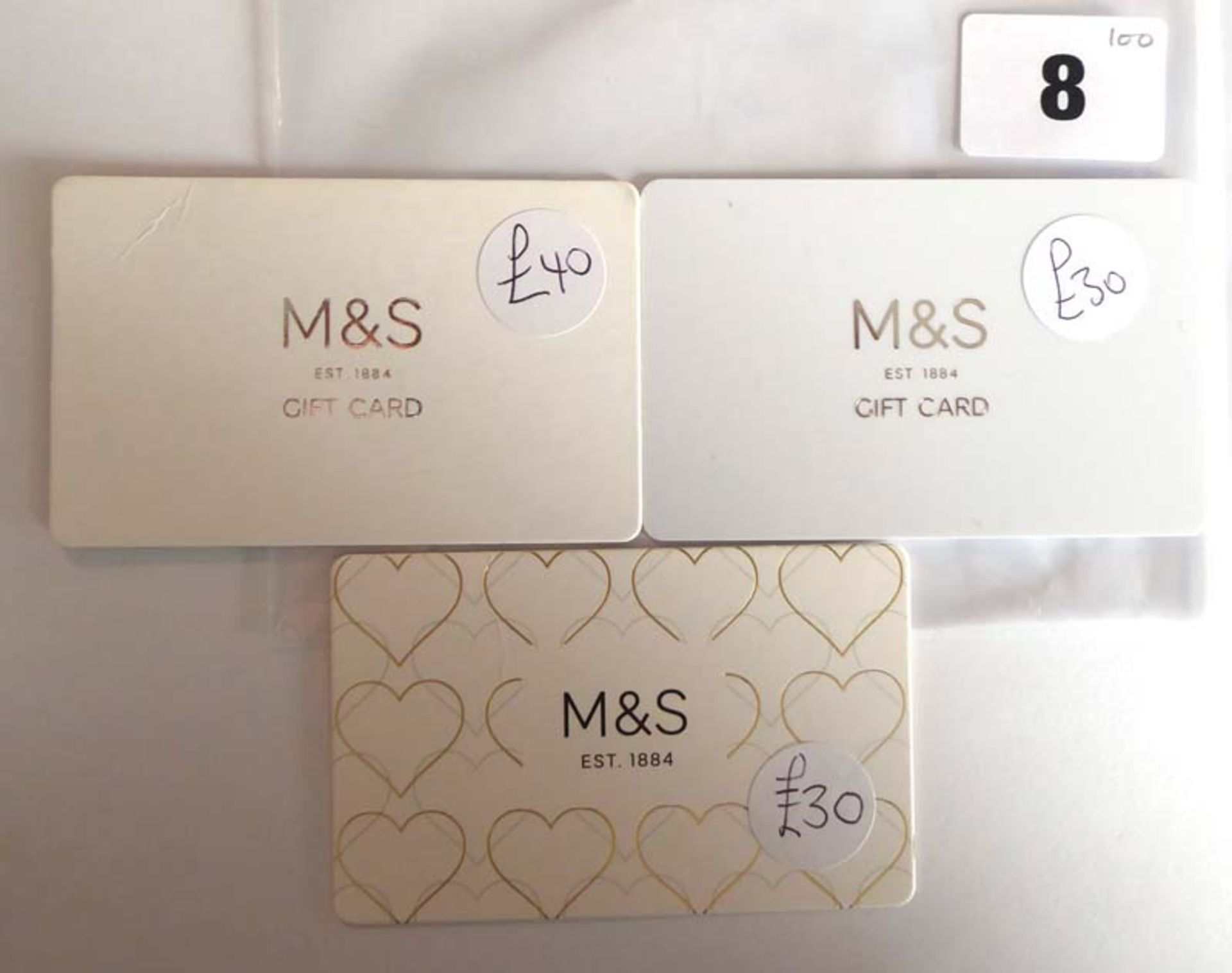 Lot 8 - Marks & Spencer (x3) - Total face value £100