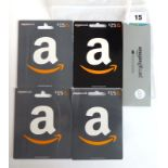Lot 15 - Amazon (x5) - Total face value £95