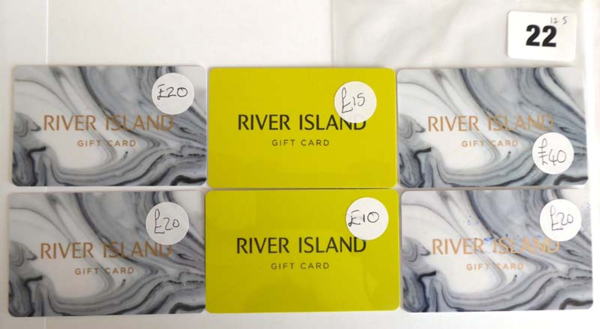 Lot 22 - River Island (x6) - Total face value £125