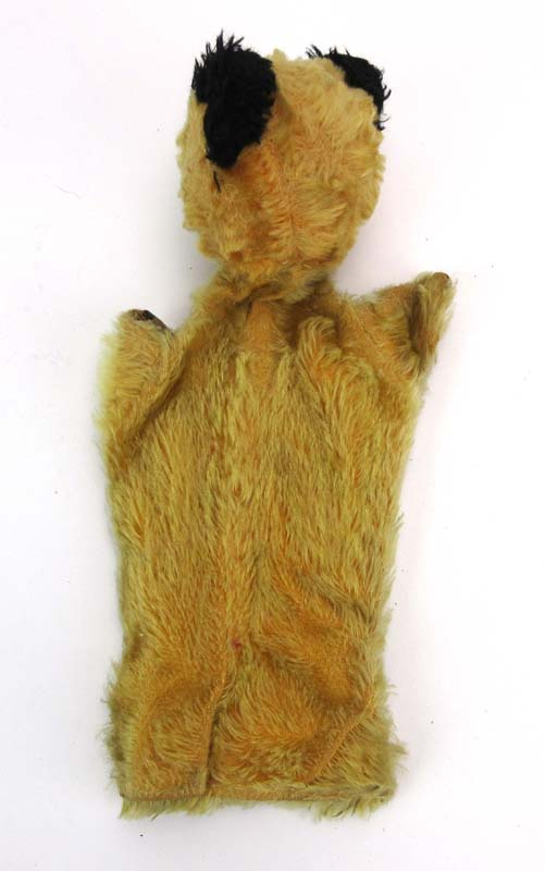 Lot 508 - An original Sooty hand puppet with a black and white photograph signed Peter Corbett,