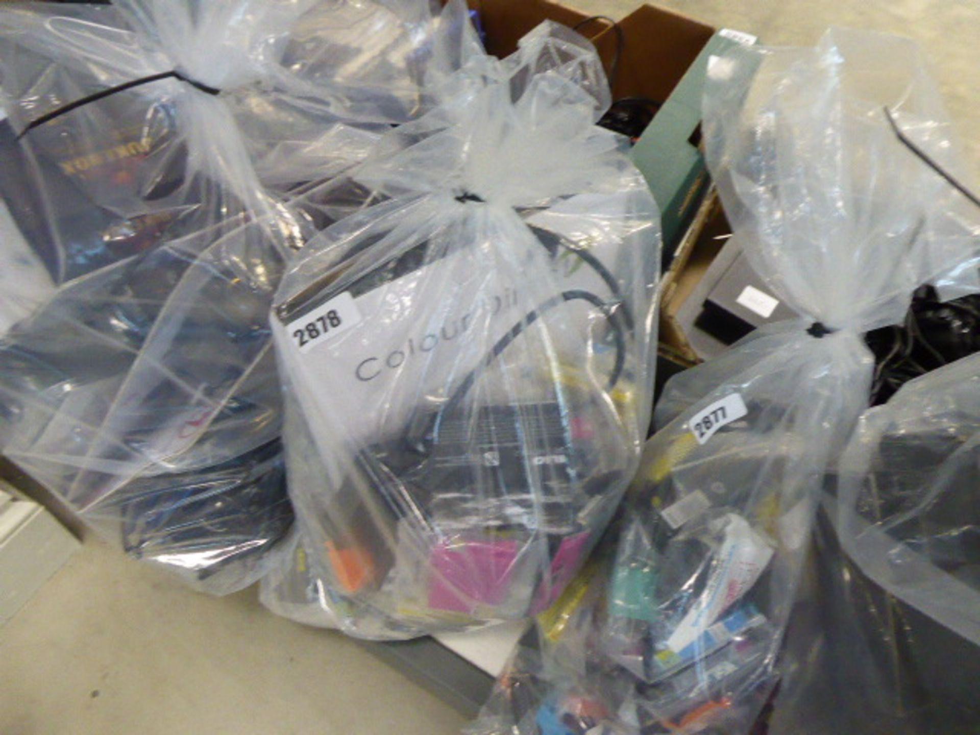 Lotto 2878 - Bag of mixed printer ink cartridges