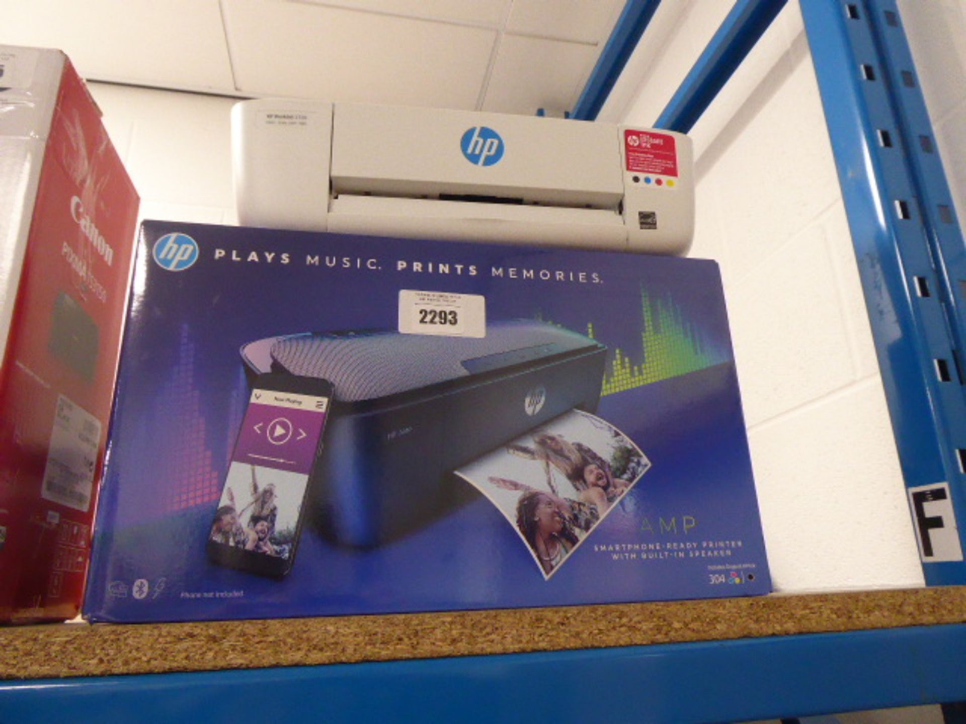 Lotto 2293 - HP Amp bluetooth speaker printer together with another Deskjet 720 printer