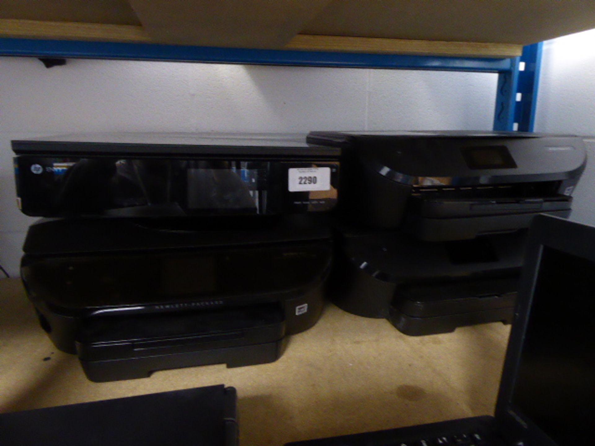 Lotto 2290 - 4 various HP printers incl. HP Envy 120
