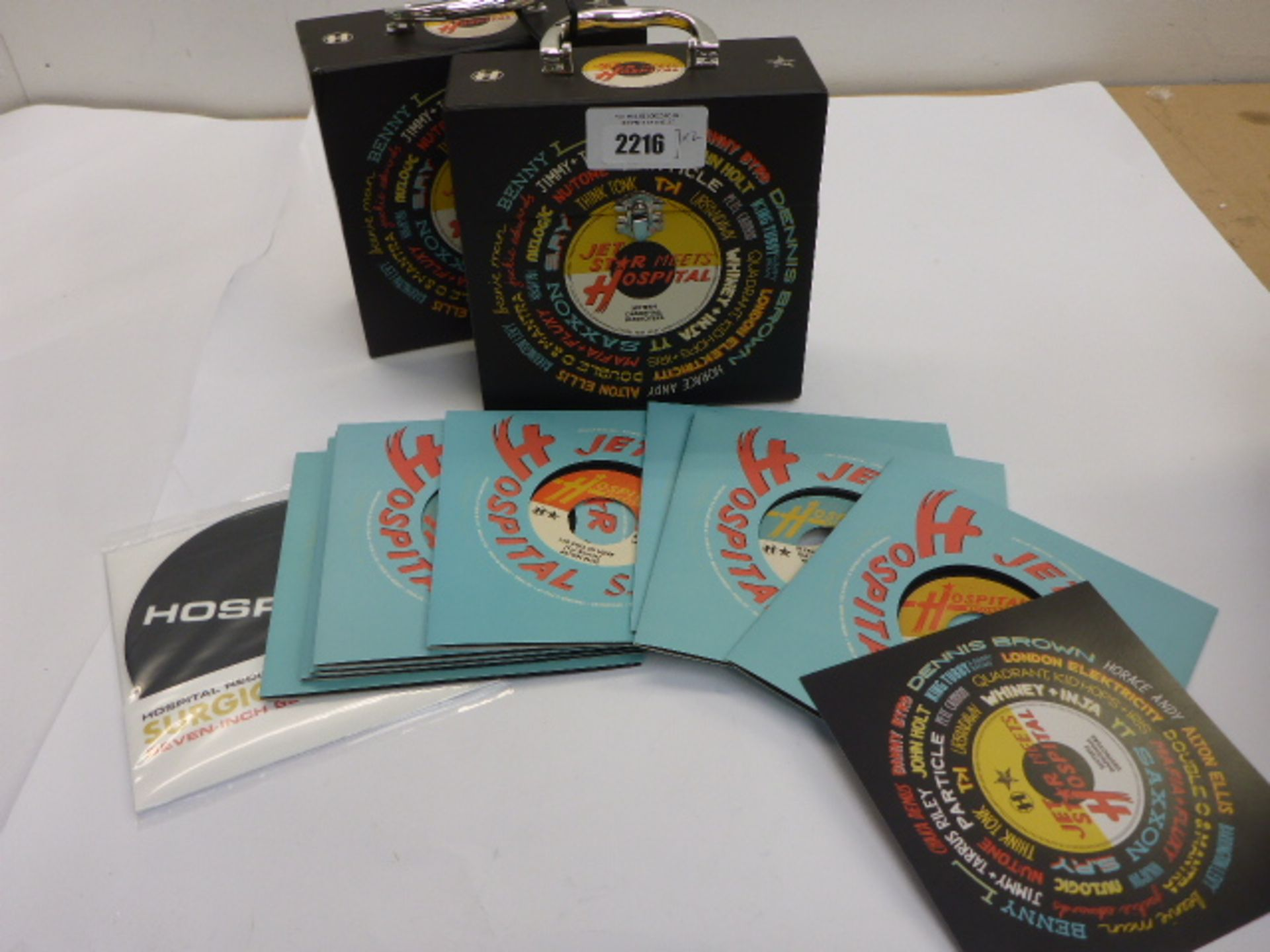 Lotto 2216 - 2x Jet Star Meets Hospital vinyl sets