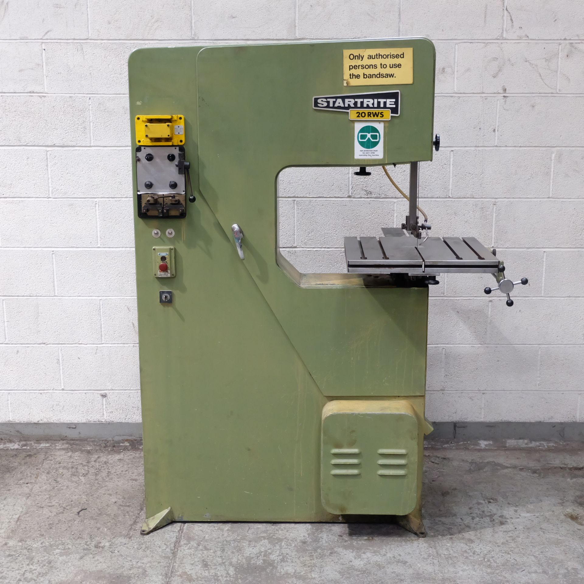 Lot 22 - A Startrite 20 RWS Vertical Bandsaw, Table Size 20