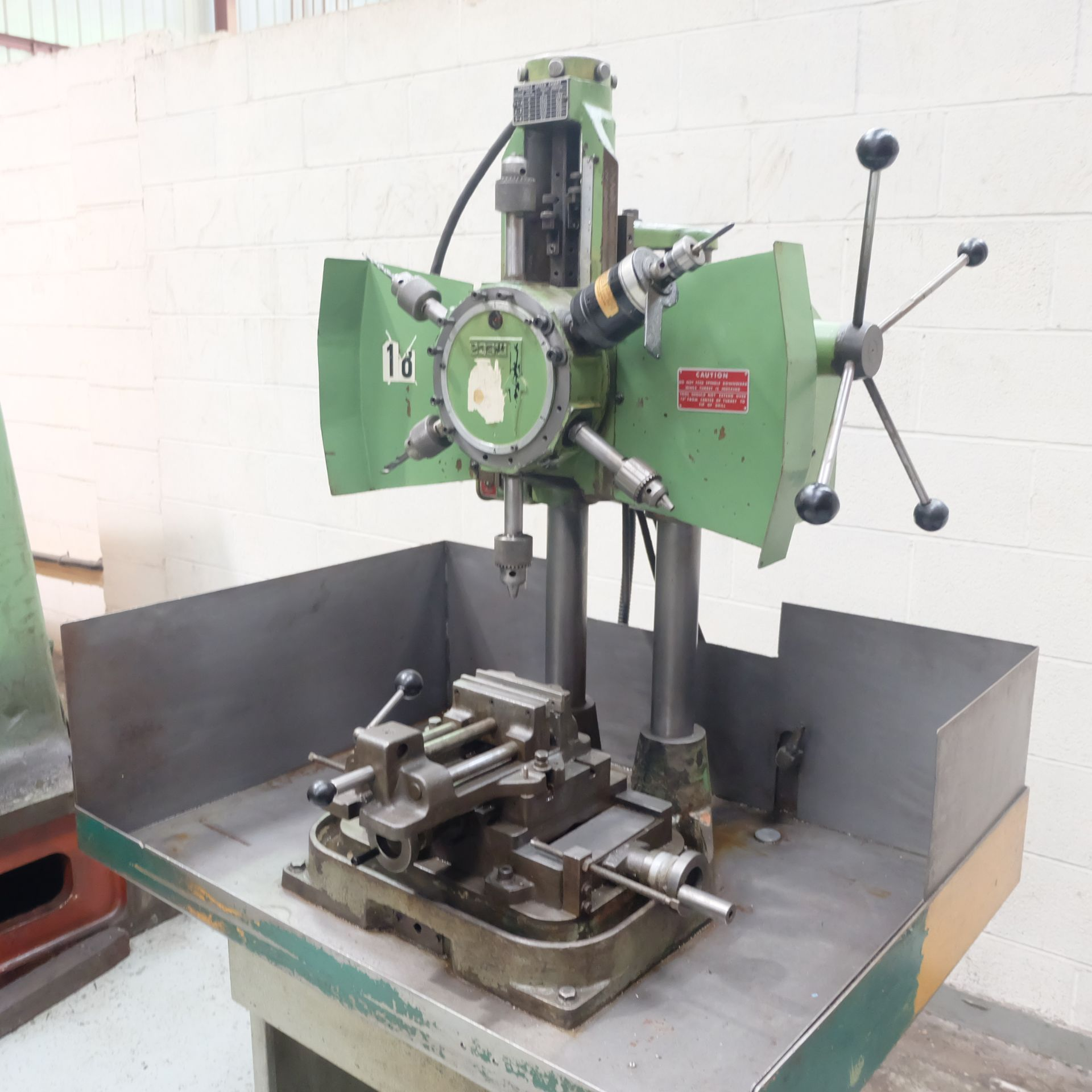 Lot 9 - A Meca 6 Spindle Turret Drill, Table 20in x 16in w
