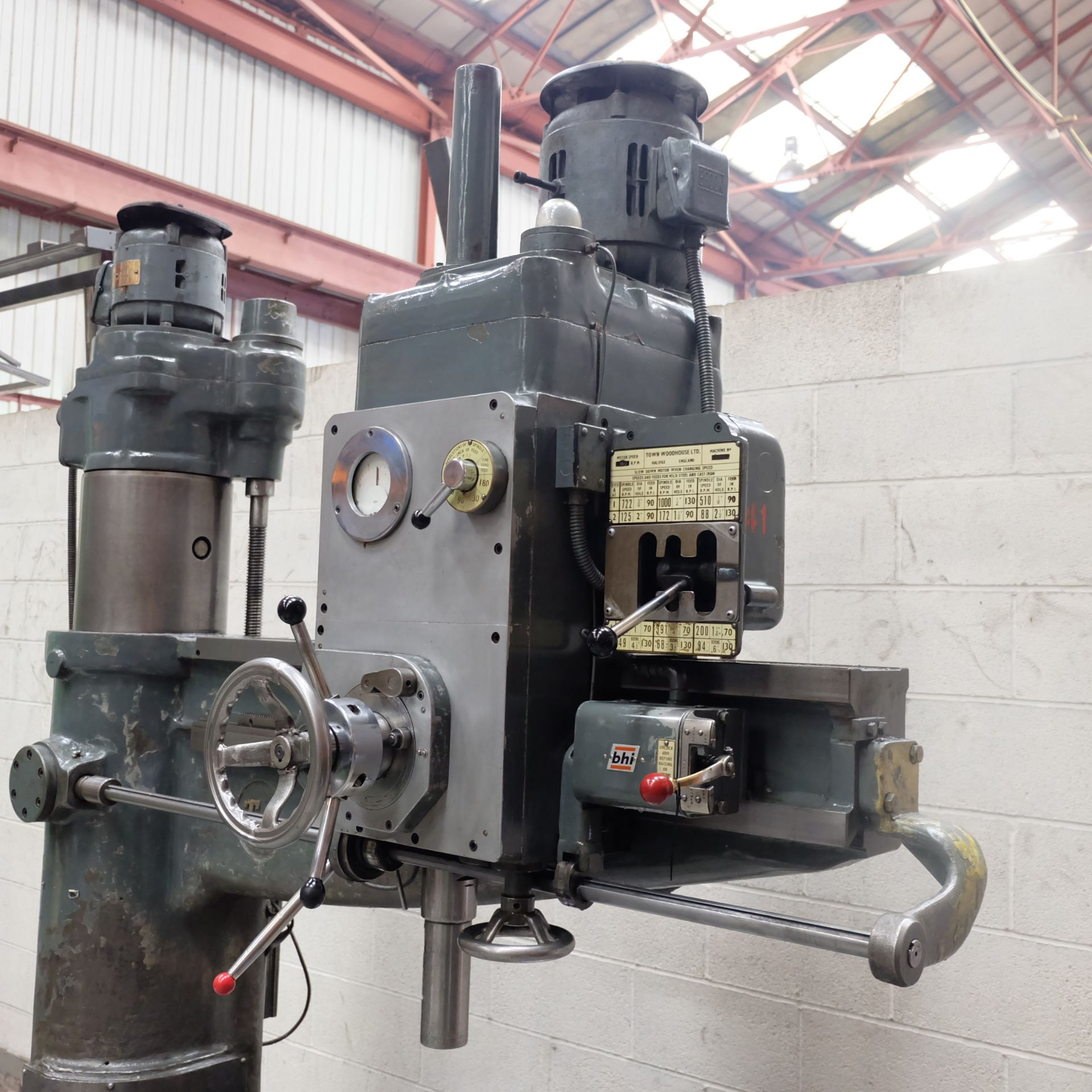 Lot 8 - A Town Woodhouse 4ft 6in Radial Arm Drill, Spindle