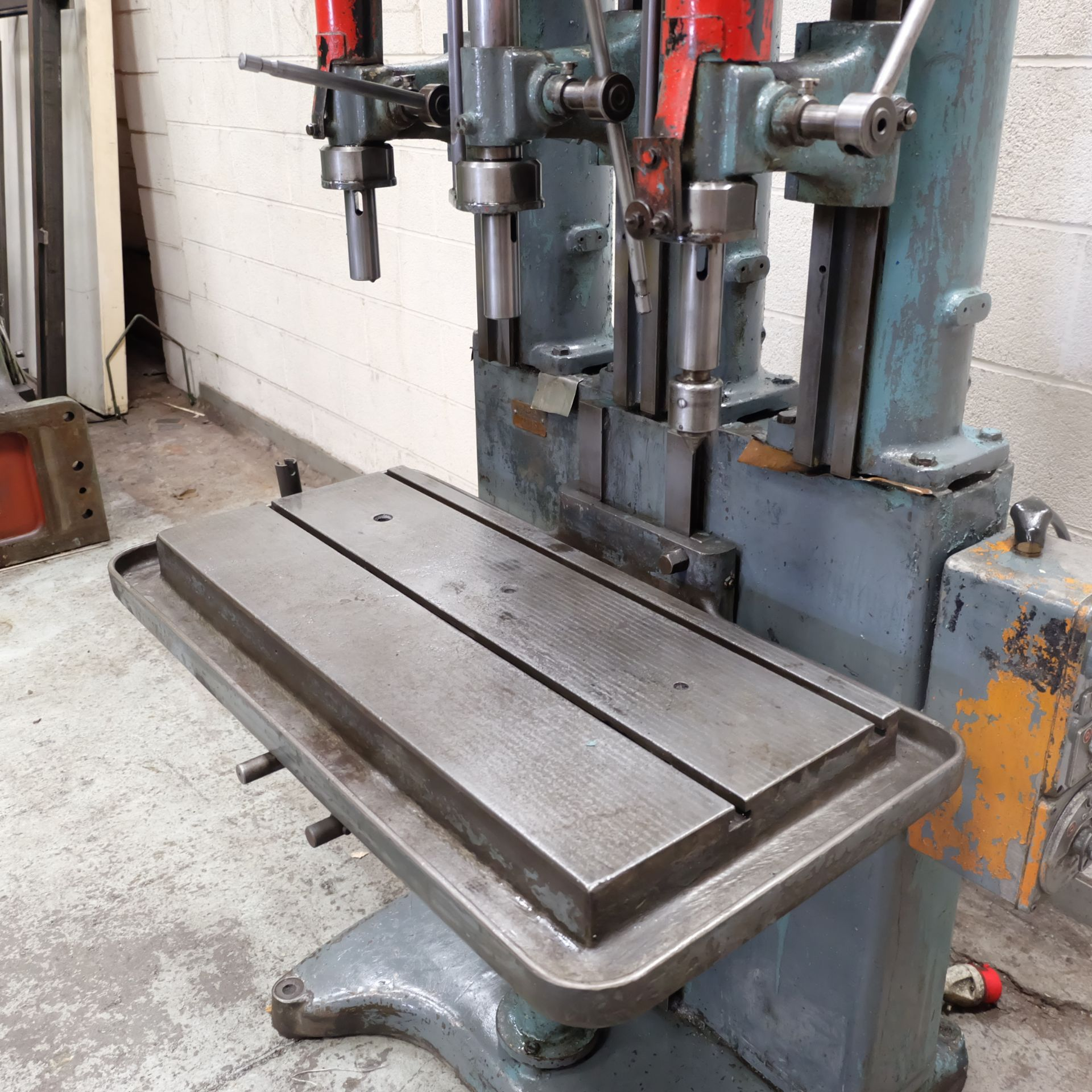 Lot 10 - A Herbert V Type 3 Spindle Drill, Table 35in x 16i