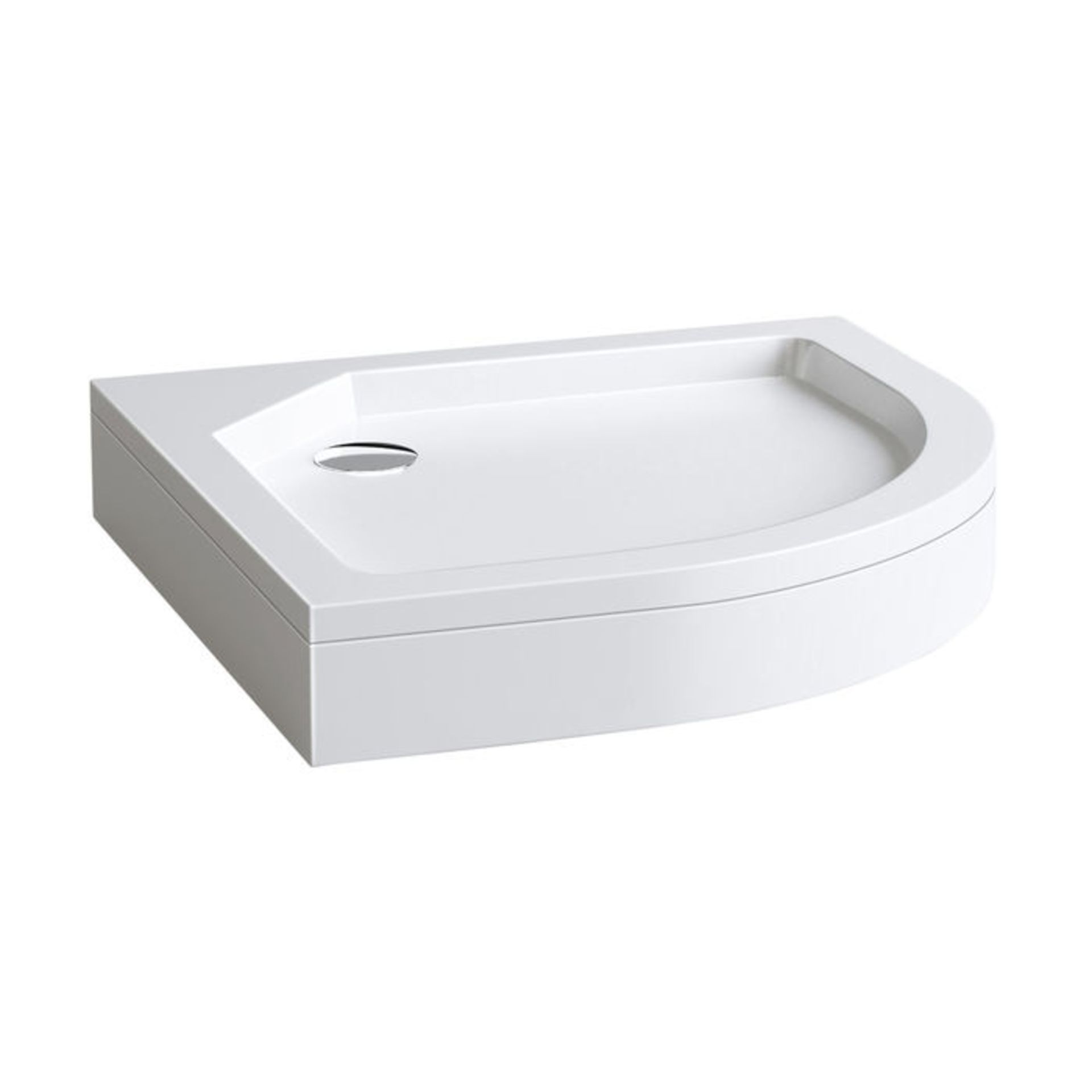 Lot 514 - (NY185) 800x800mm Quadrant Easy Plumb Shower Tray. Easy to clean waste container Made from