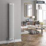 Lot 513 - (NY170) 1500x200mm White Triple Panel Vertical Colosseum Traditional Radiator. RRP £331.99. Made
