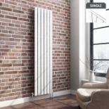 Lot 8 - (W153) 1800x452mm Gloss White Single Flat Panel Vertical Radiator. RRP £499.99. Made with low carbon