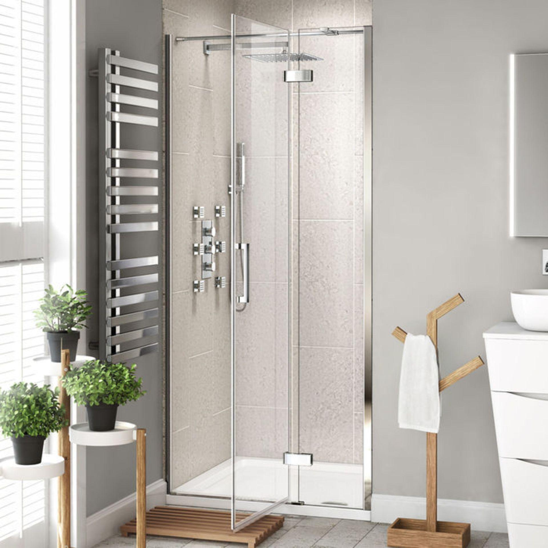 Lot 36 - (PJ189) 1000mm - 8mm - Premium EasyClean Hinged Shower Door. RRP £499.99. 8mm EasyClean glass -