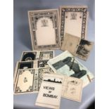 Lot 23 - A group of Art Nouveau Ink Paintings by Solomon Abraham, Bombay India c1903
