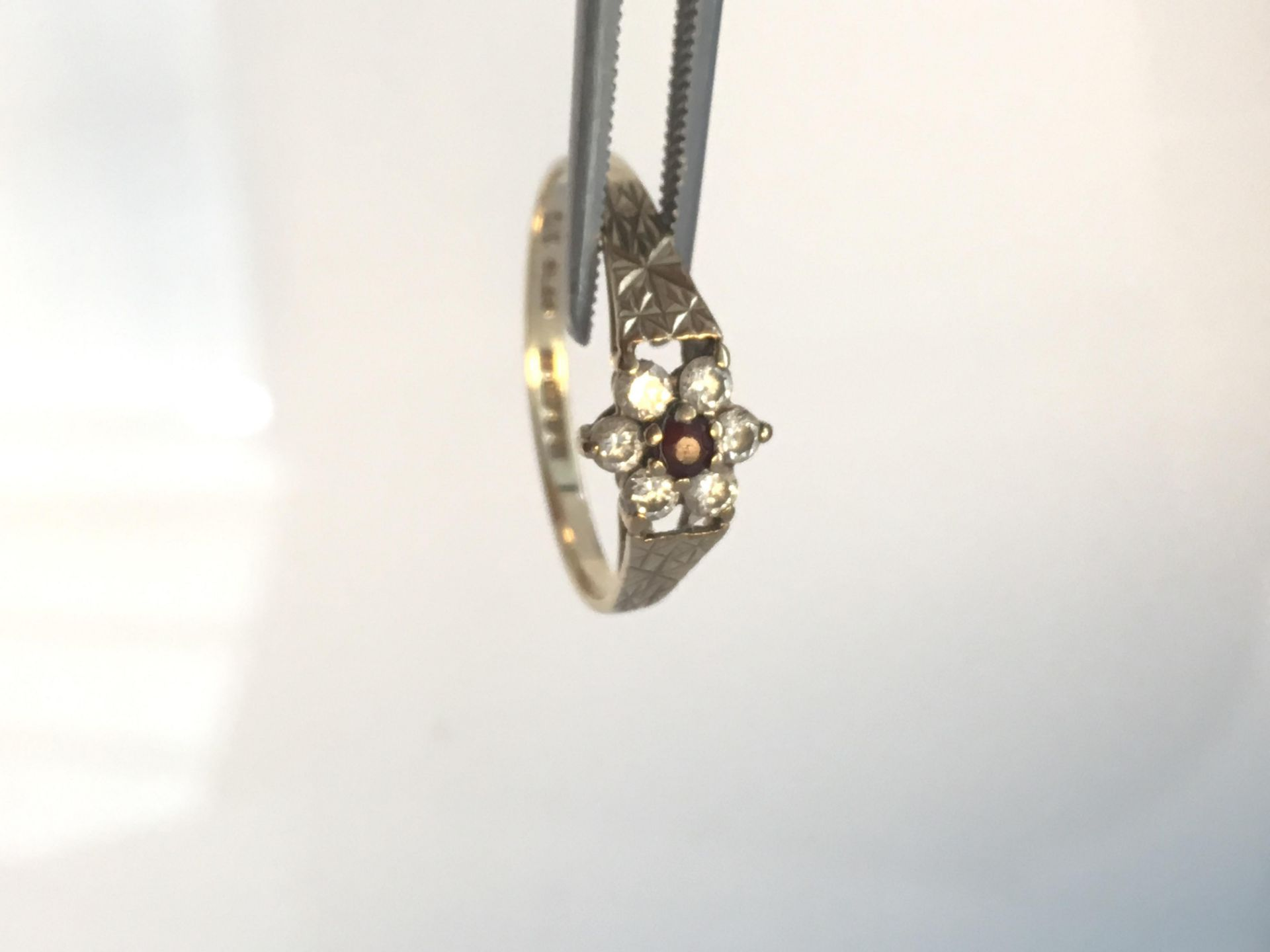 Lot 36 - Two 9ct gold dress rings