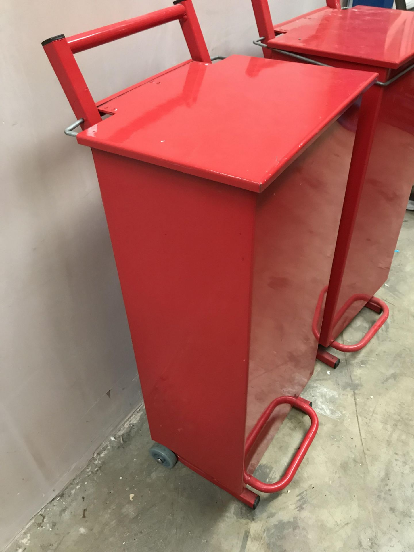 Lot 26 - 2 x metal bins - removed from a Technical College