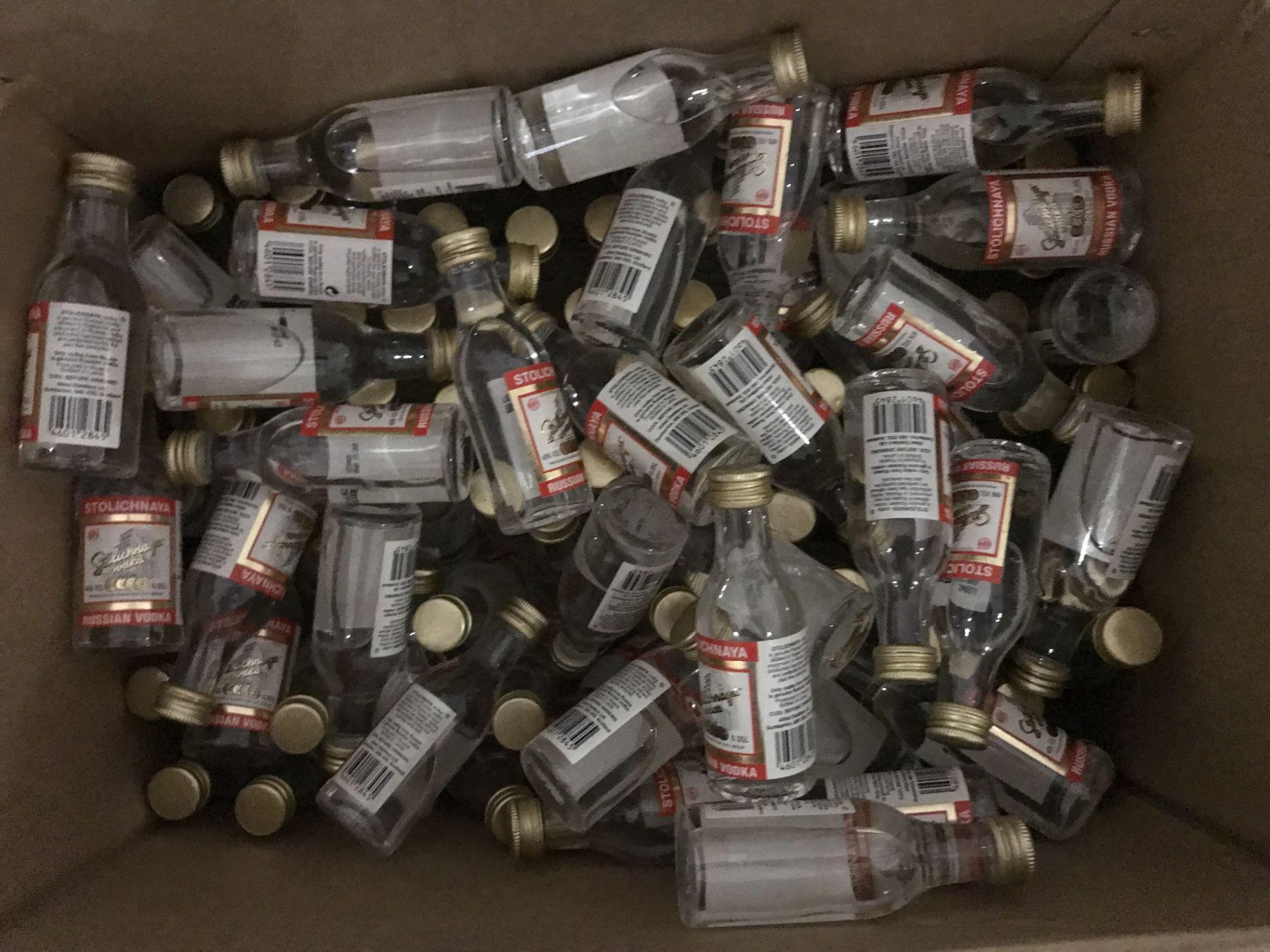 Lot 20 - Box of Vodka Miniatures