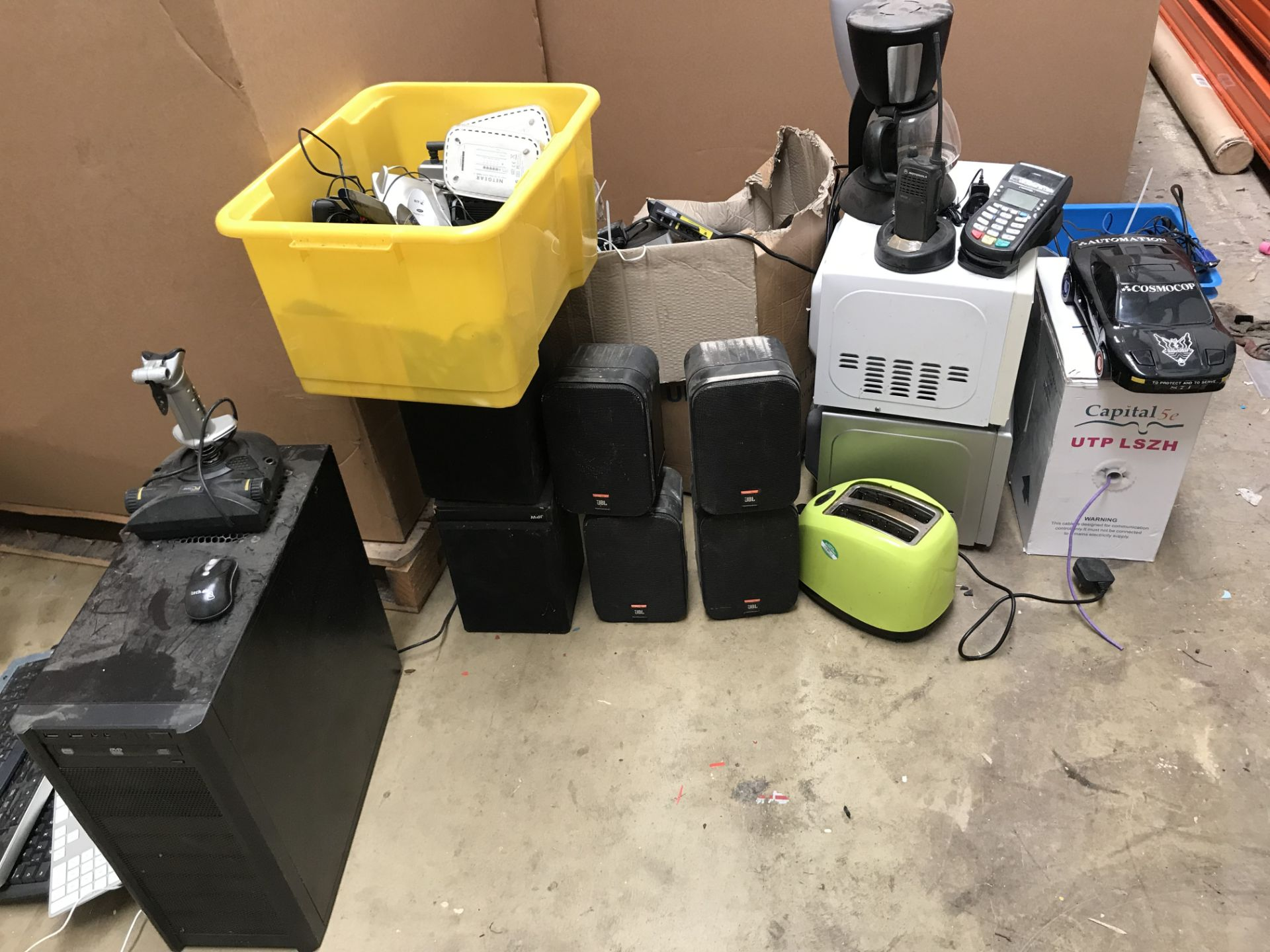 Lot 6 - Computer Monitor, Cat 5 and HDMI Switches - Motorola Radio - Pallet