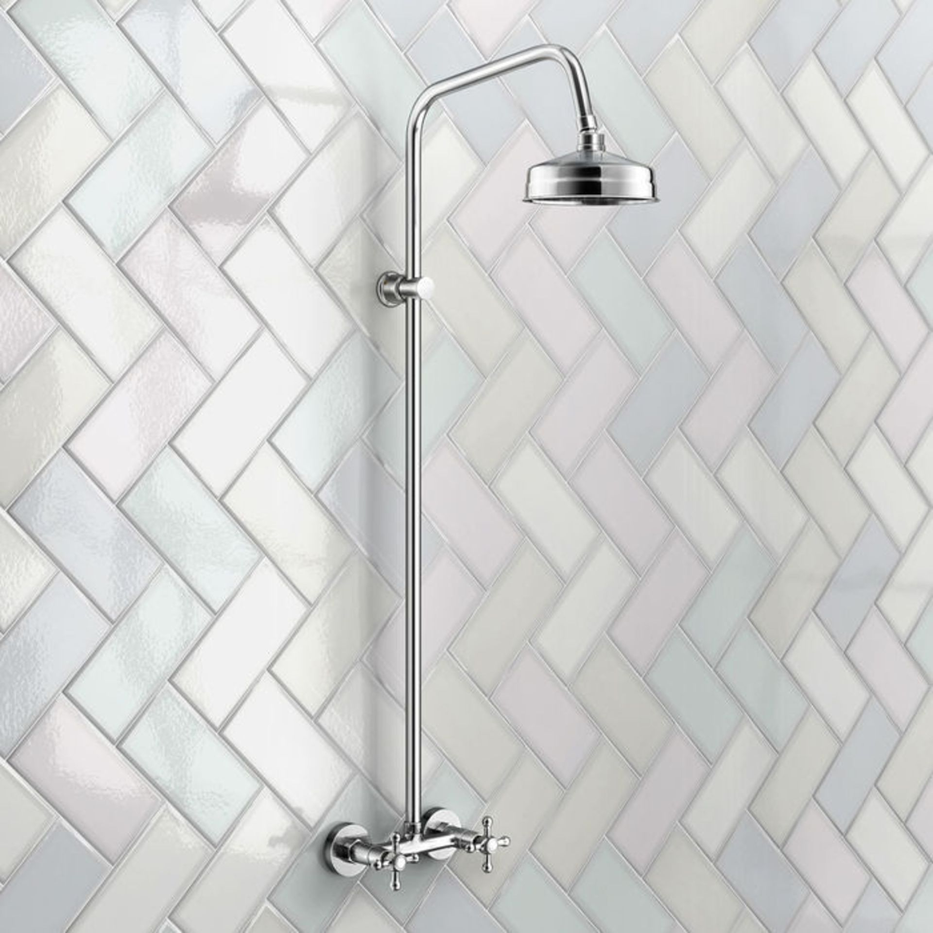 Lot 20 - (P90) Traditional Exposed Shower Medium Head Exposed design makes for a statement piece Stunning