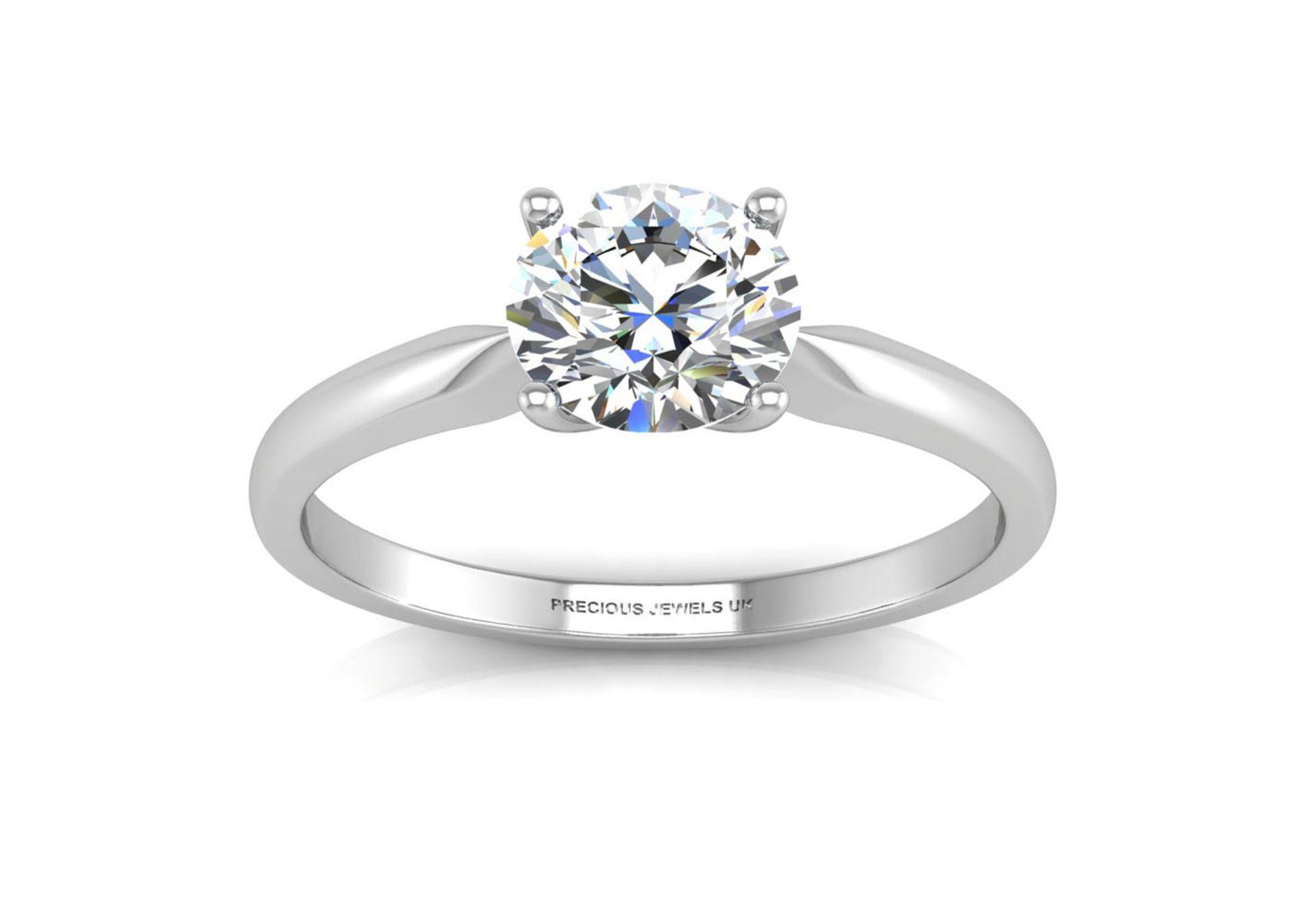Lot 13 - 18k White Gold Single Stone Claw Set Diamond Ring J SI 0.20