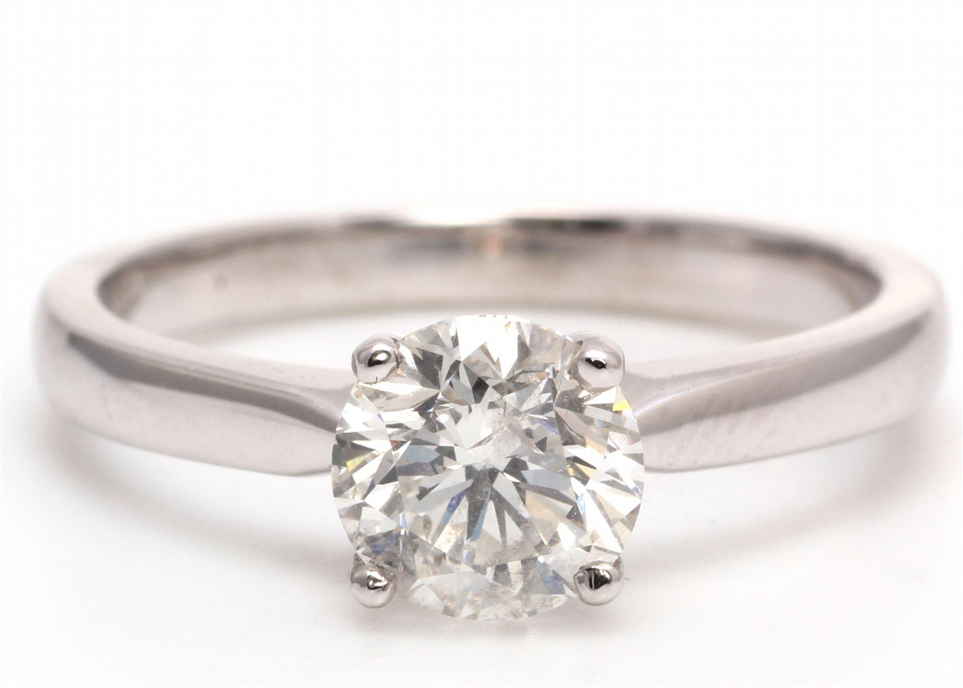 Lot 12 - 18k White Gold Single Stone Diamond Ring 1.05