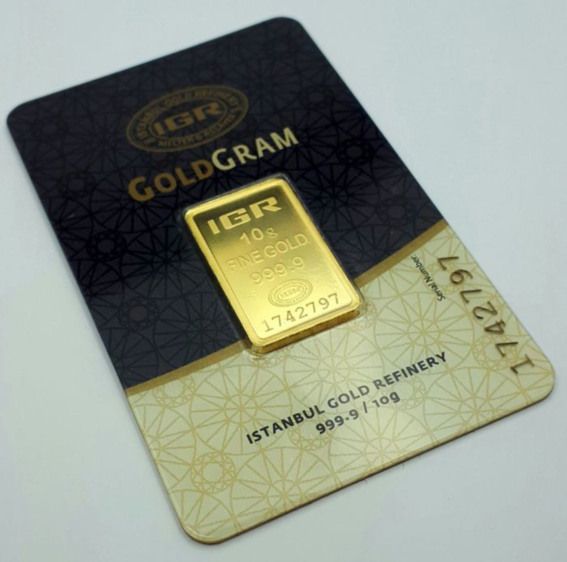 Lot 38 - 10 Gram 99.99% (24K) Gold Bullion
