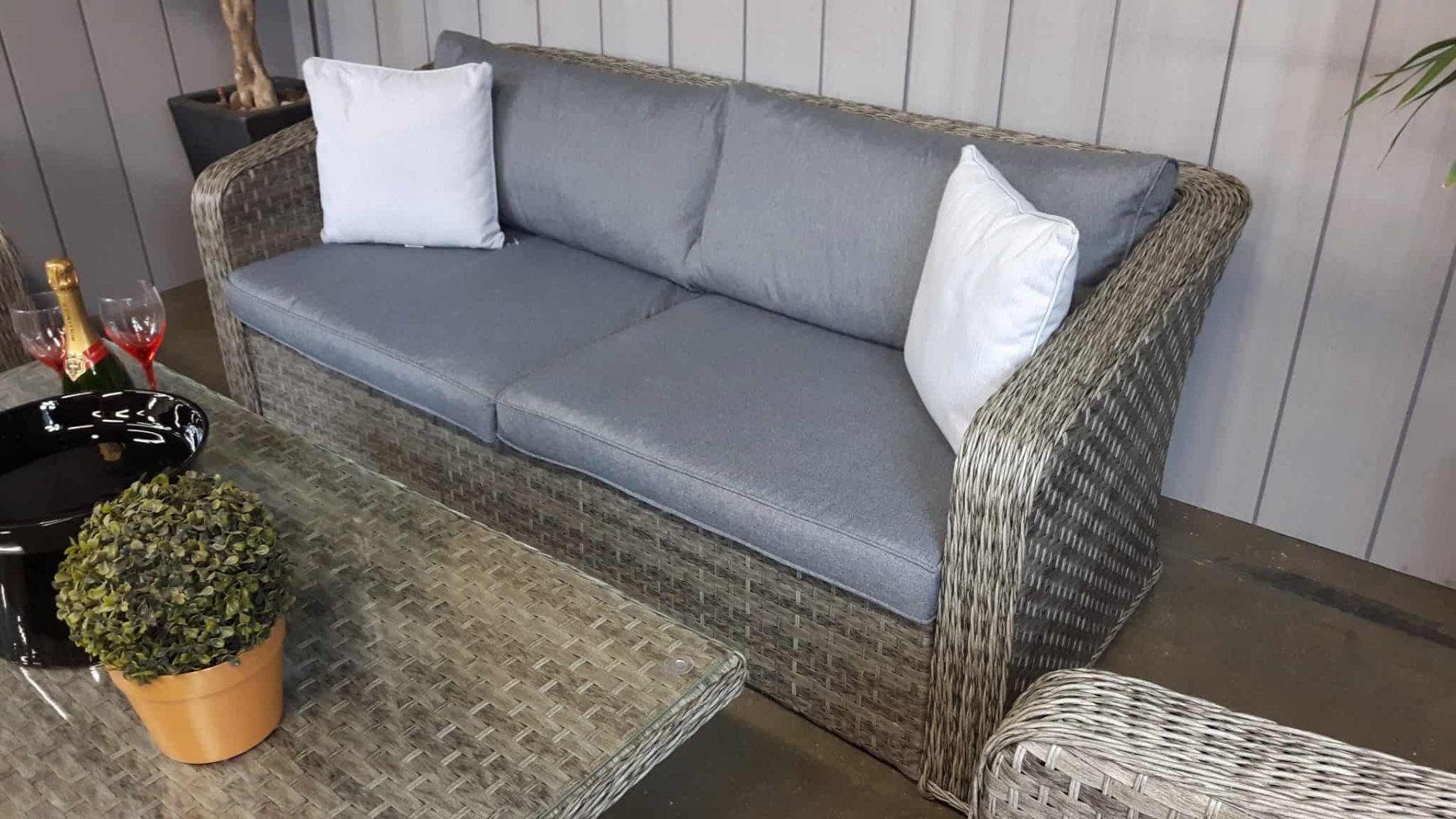 Lot 59 - Windsor Executive Sofa Set Fully Welded Aluminium