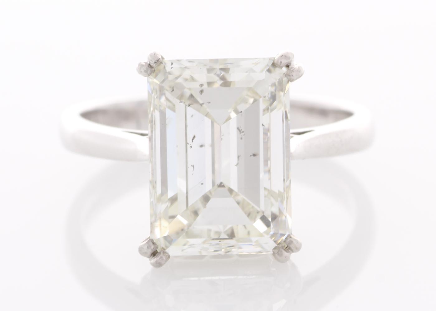 Lot 2 - 18ct White Gold Single Stone Prong Set Diamond Ring 5.86 Carats HRD I SI2