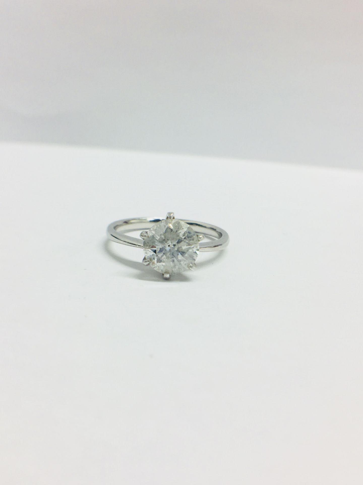 Lot 2 - 1.73Ct Diamond Solitaire Ring Set In Platinum.