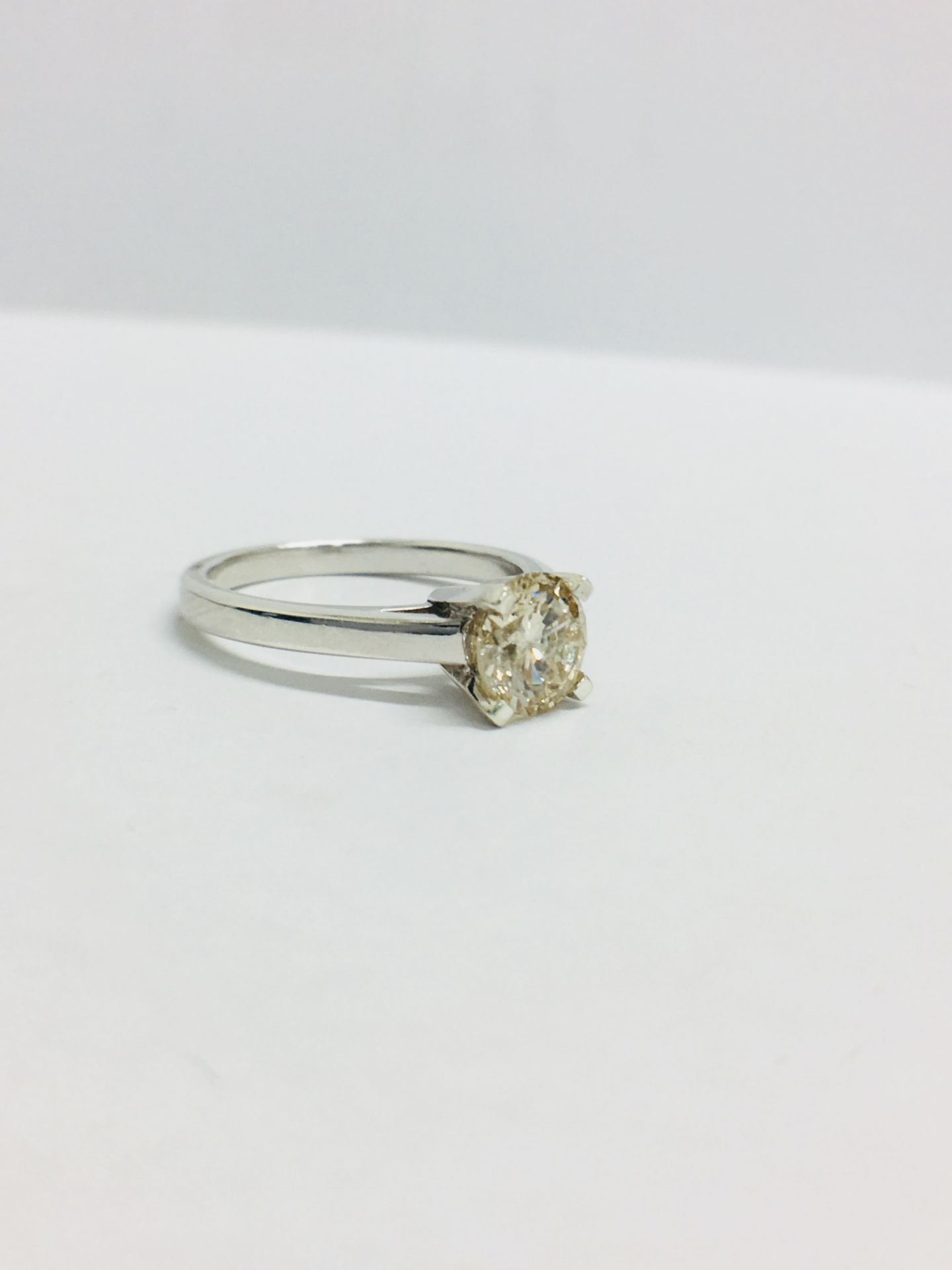 Lot 6 - 1.02Ct Diamond Solitaire Ring Set In 18Ct Gold.