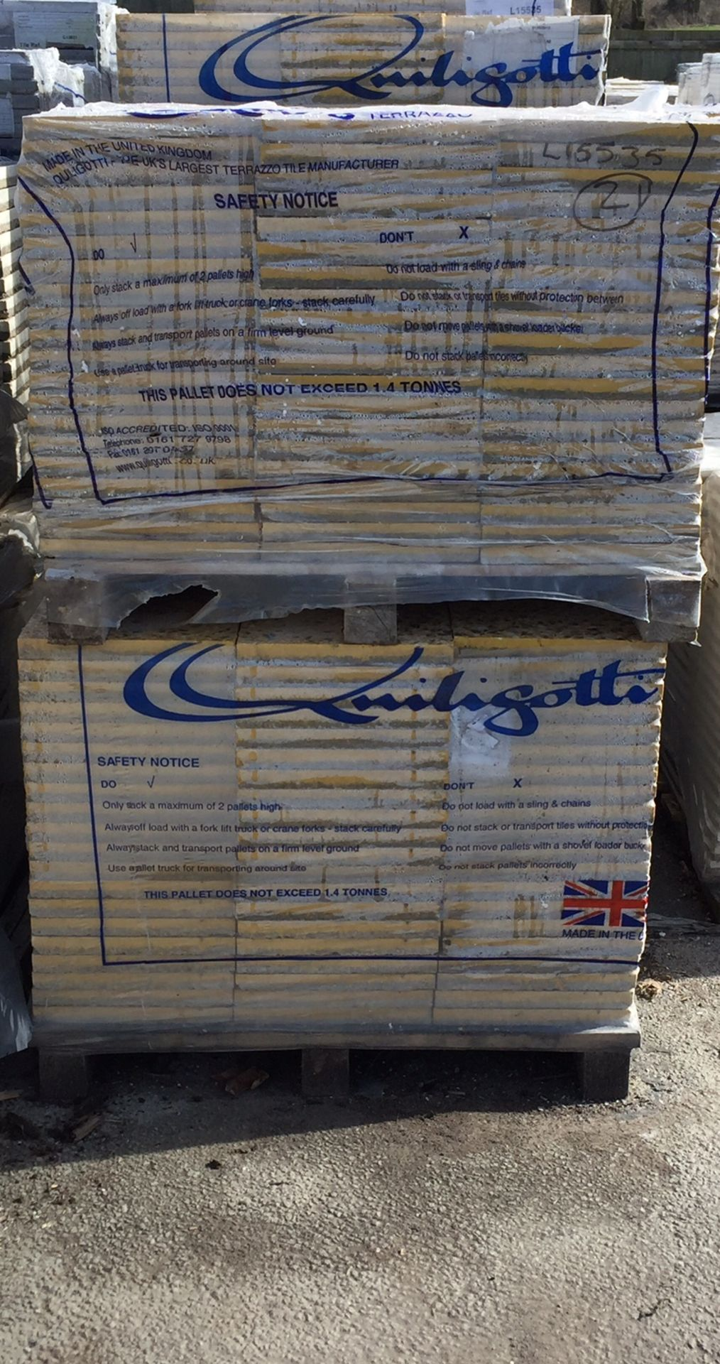 Lot 52 - 1 x Pallet Quiligotti Terrazzo Commercial Floor Tiles (L15535) 20 square yards per pallet