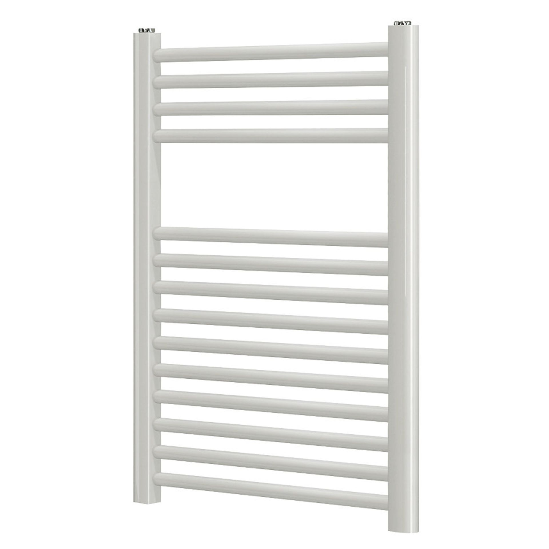 Lot 56 - (EY154) 700x400mm Flat White Towel Radiator. Flat Front Powder-Coated Mild Steel Construction.
