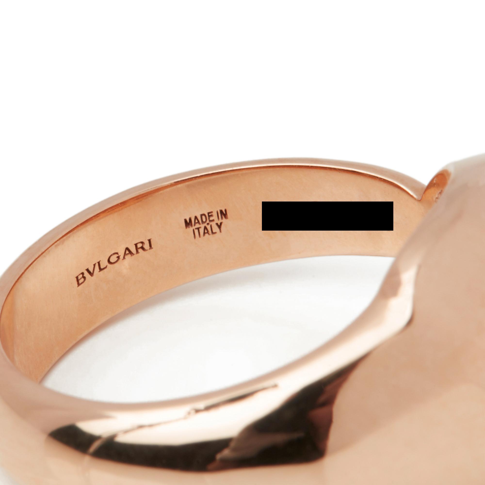 18k Rose Gold Diamond & Malachite Serpenti Ring - Image 5 of 10