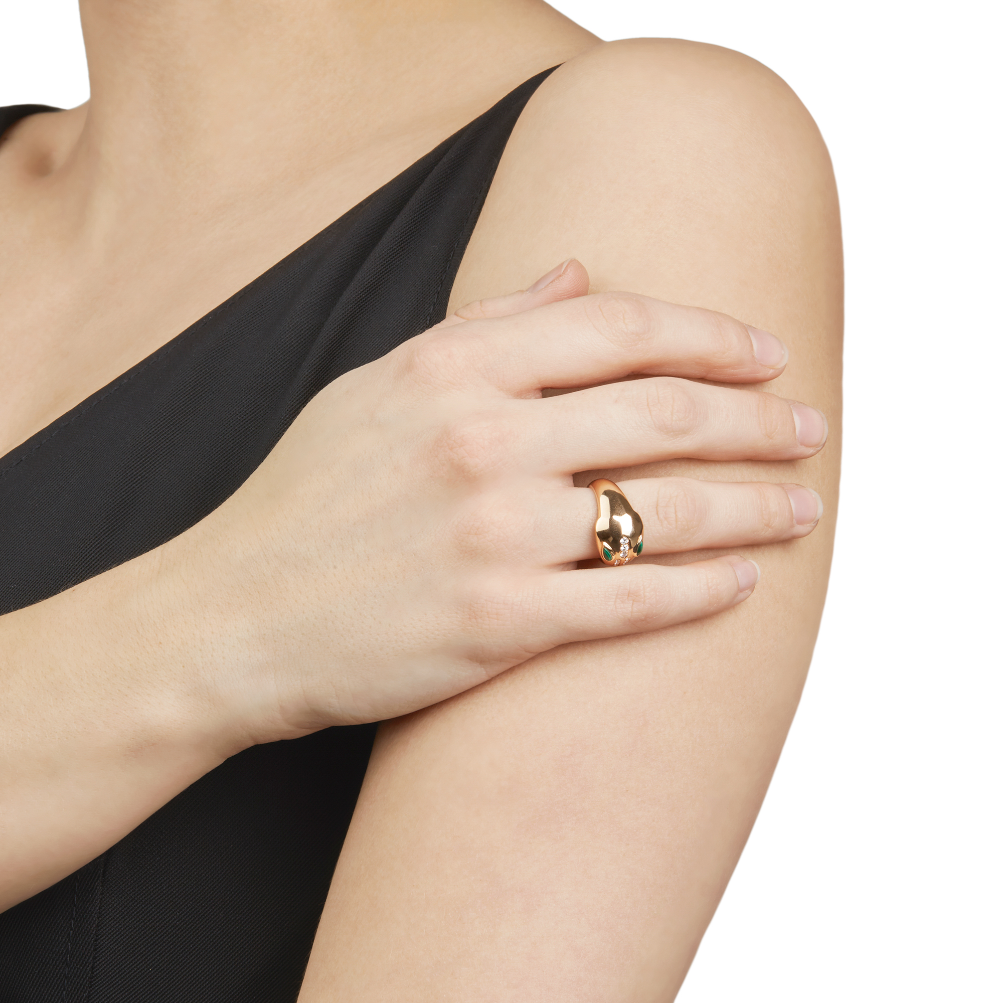 18k Rose Gold Diamond & Malachite Serpenti Ring - Image 3 of 10