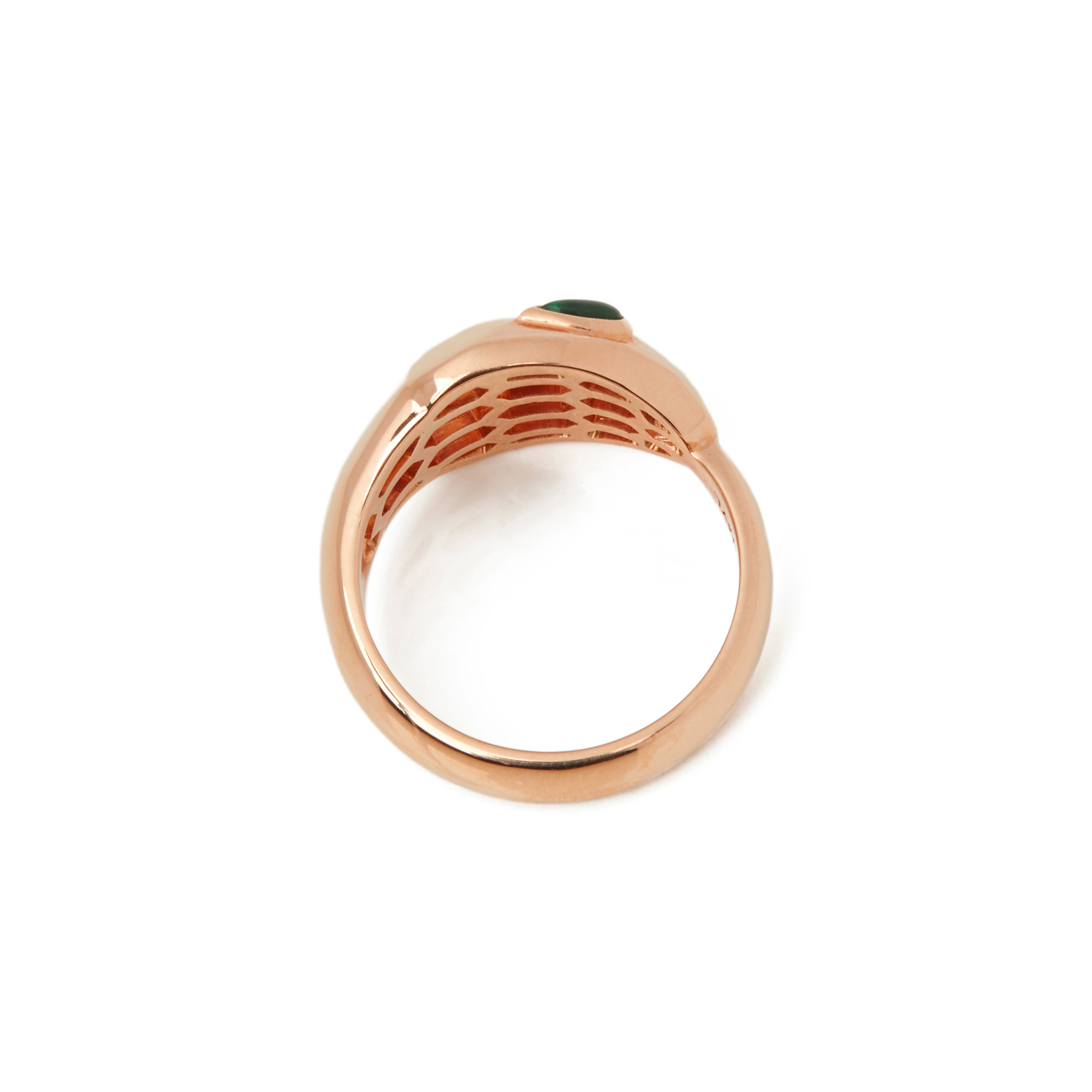18k Rose Gold Diamond & Malachite Serpenti Ring - Image 7 of 10