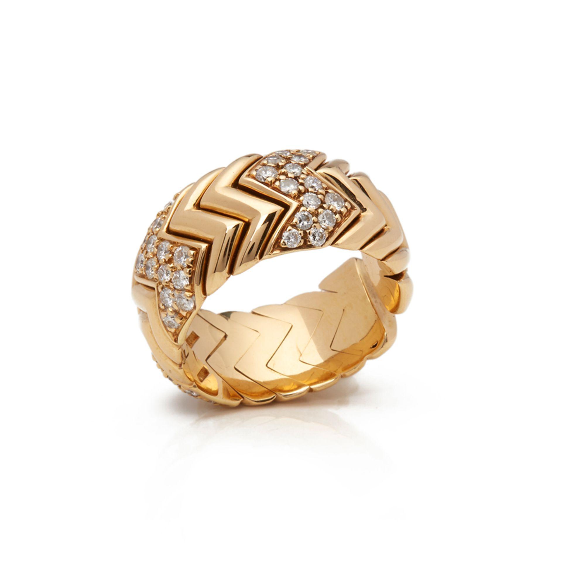 Lot 1 - 18k Yellow Gold Diamond Spiga Ring