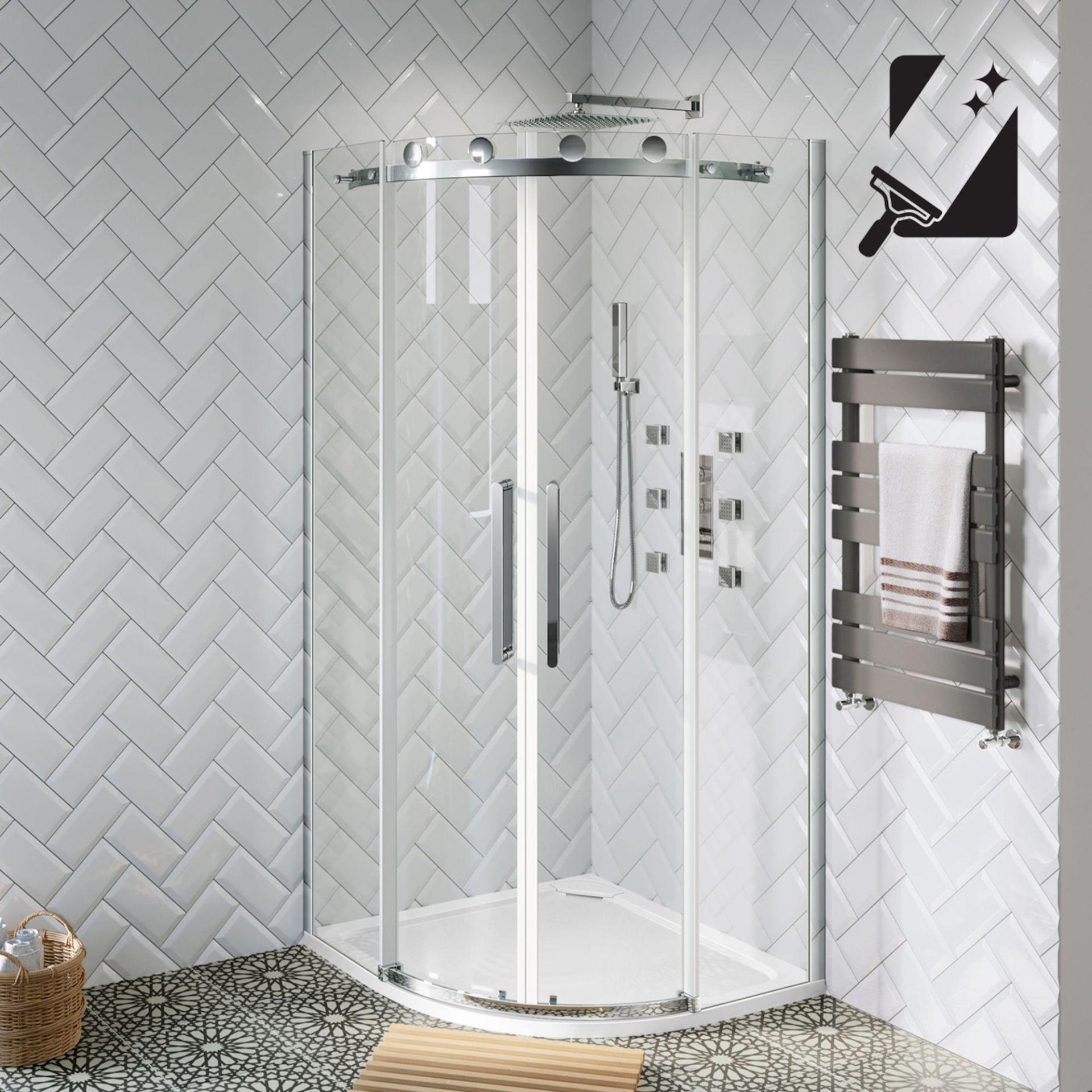 Lot 5 - (XX5) 1200x800mm - 10mm - Premium Frameless EasyClean Quadrant Shower Enclosure. RRP £649.99. ...