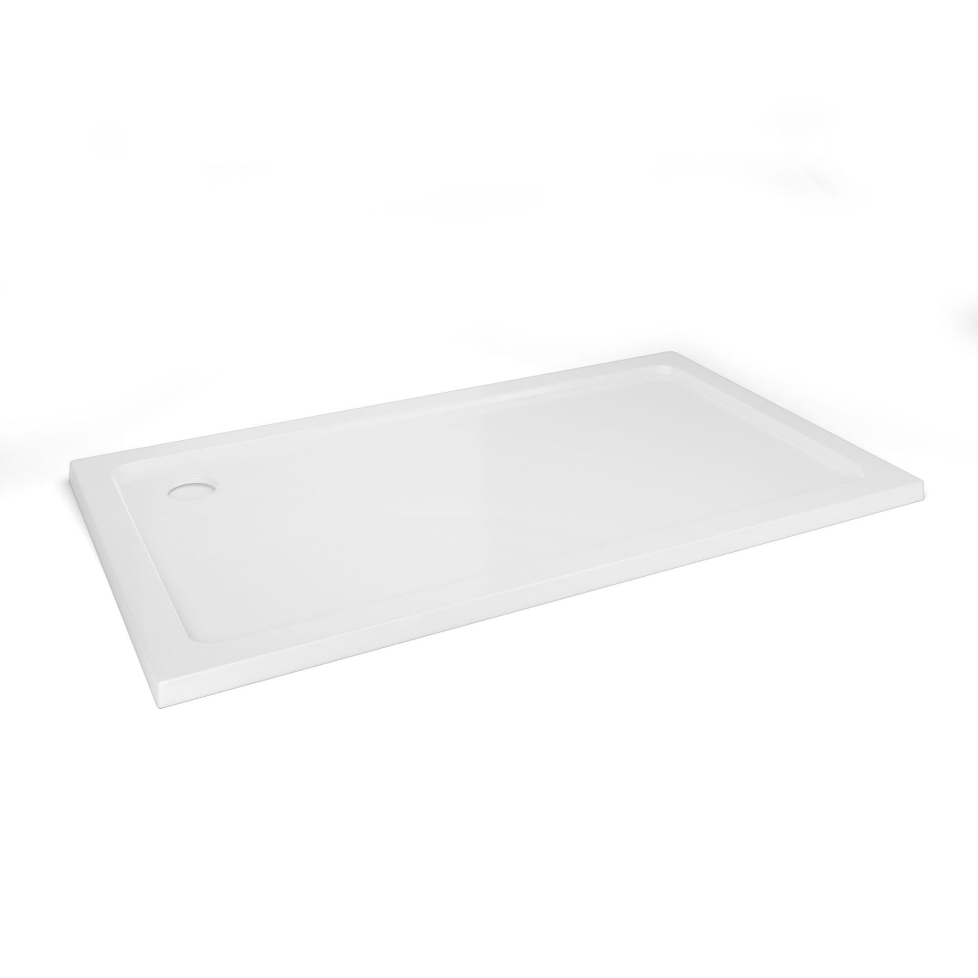 Lot 47 - (XX33) 1400x800mm Rectangular Ultra Slim Stone Shower Tray. RRP £349.99. Constructed from acry...