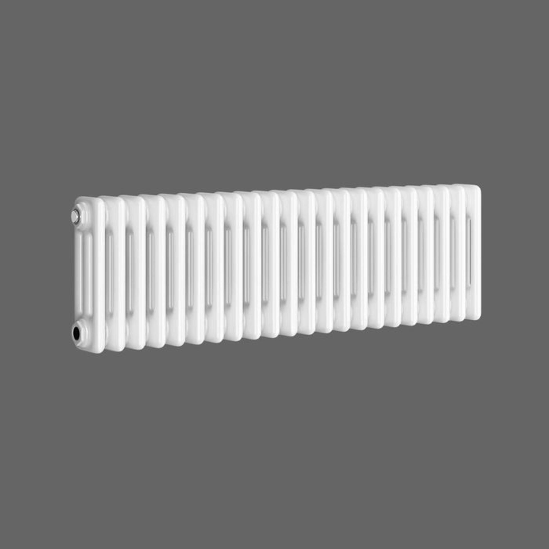 Lot 28 - (XX18) 300x812mm White Triple Panel Horizontal Colosseum Traditional Radiator. RRP £443.99. Ma...