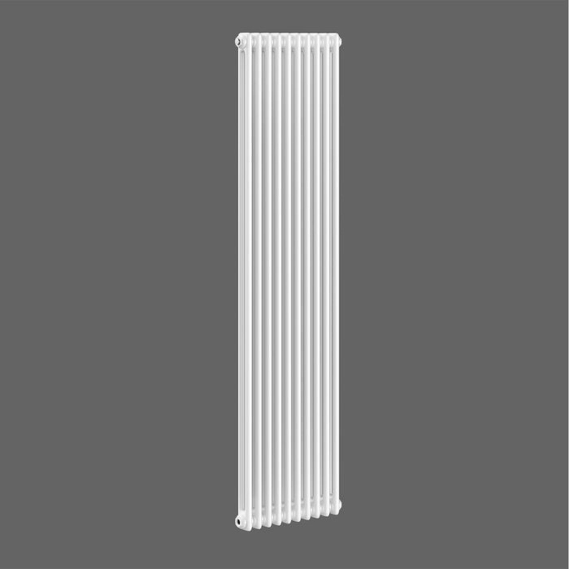 Lot 29 - (XX19) 2000x490mm White Double Panel Vertical Colosseum Traditional Radiator. RRP £488.99. For...