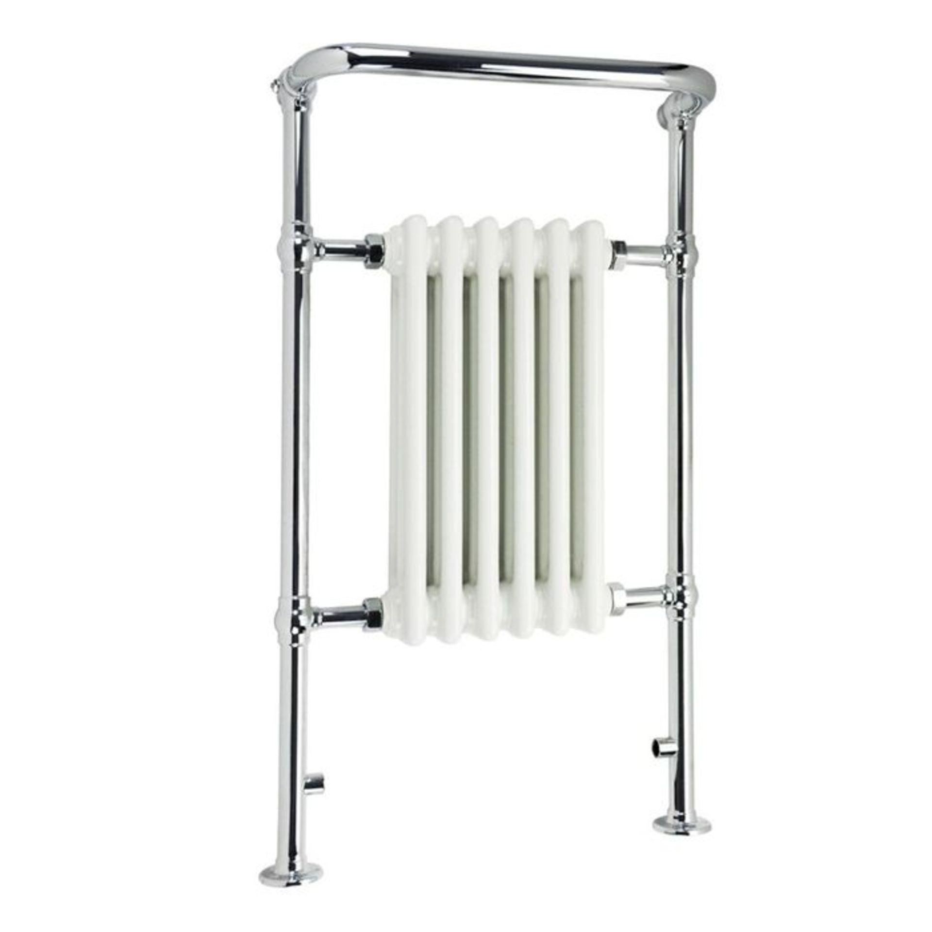 Lot 30 - (XX20) 963x583mm Medium Traditional White Towel Rail Radiator - Cambridge. RRP £431.99. Made f...