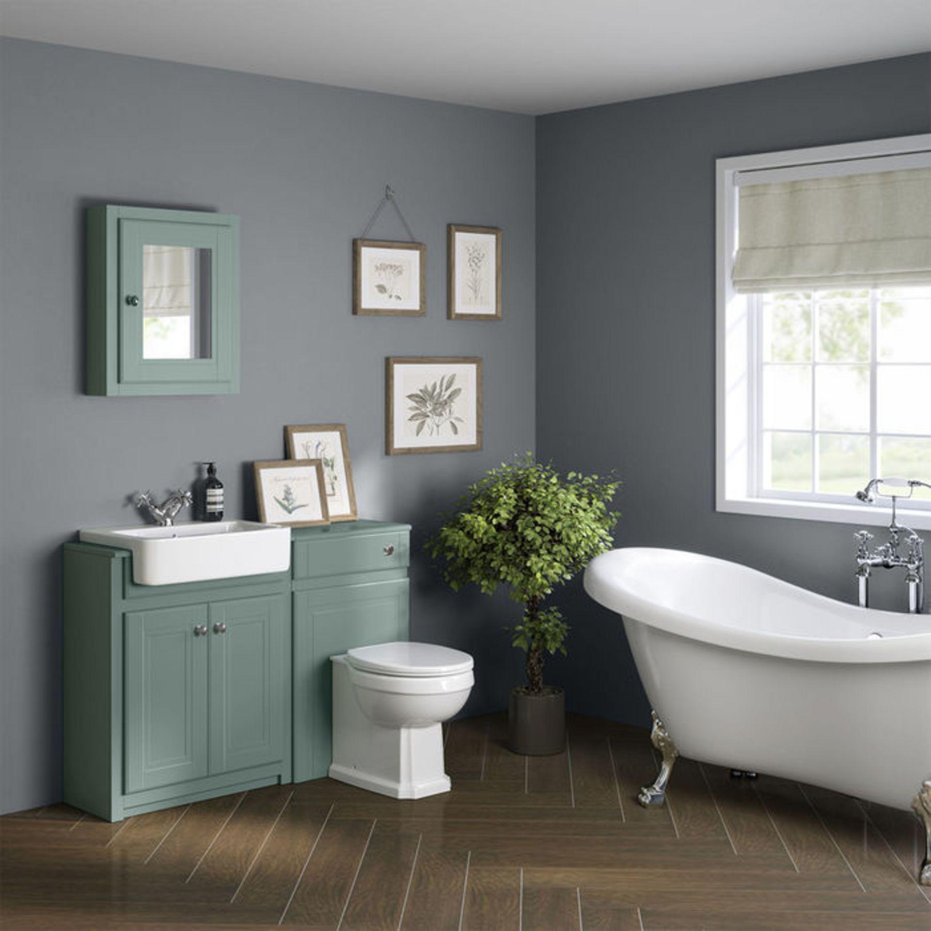 Lot 56 - (XX39) Cambridge Single Door Mirror Cabinet - Marine Mist. RRP £199.99. Traditional aesthetic ...