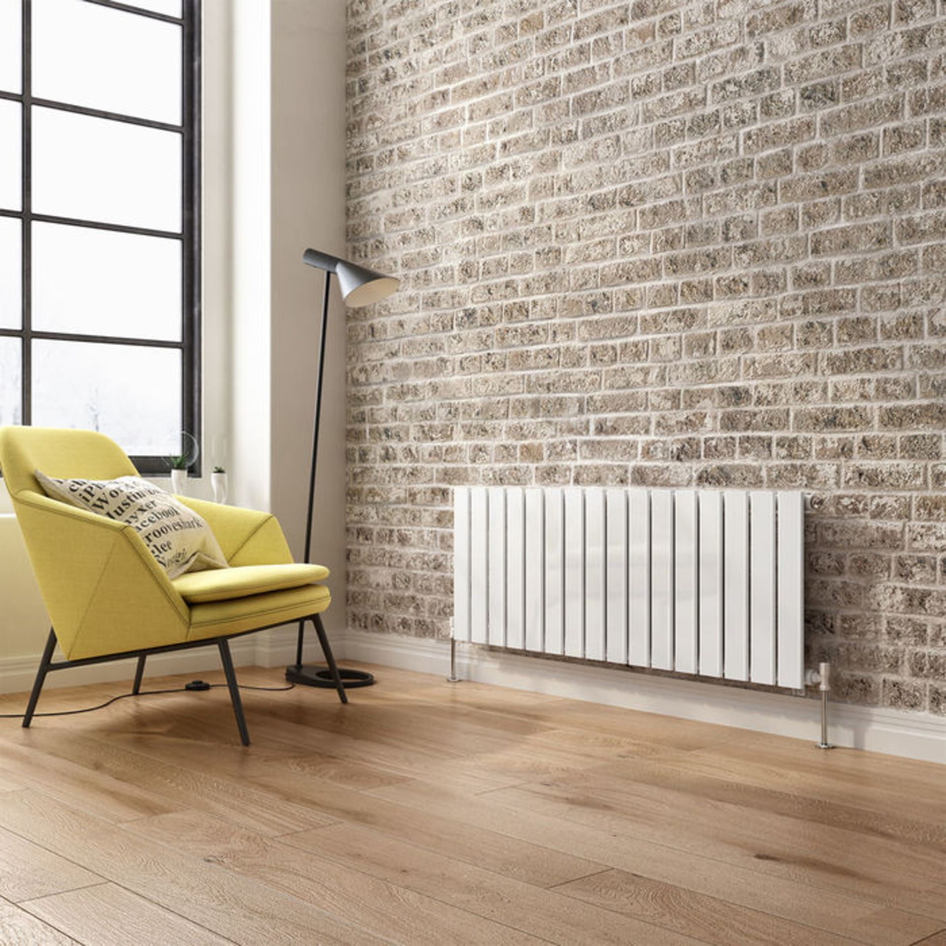 Lot 22 - 635x1200mm Gloss White Single Flat Panel Horizontal Radiator. RRP £392.99. Our entire range of...