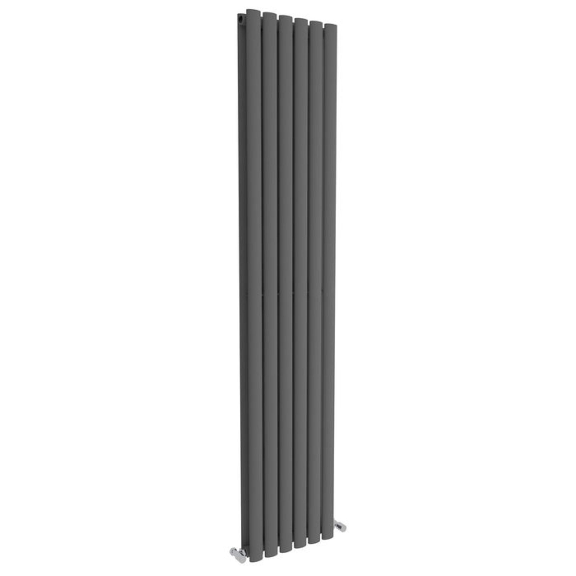 Lot 23 - 1800x360mm Anthracite Double Oval Tube Vertical Radiator. RRP £344.99. Made from high quality ...