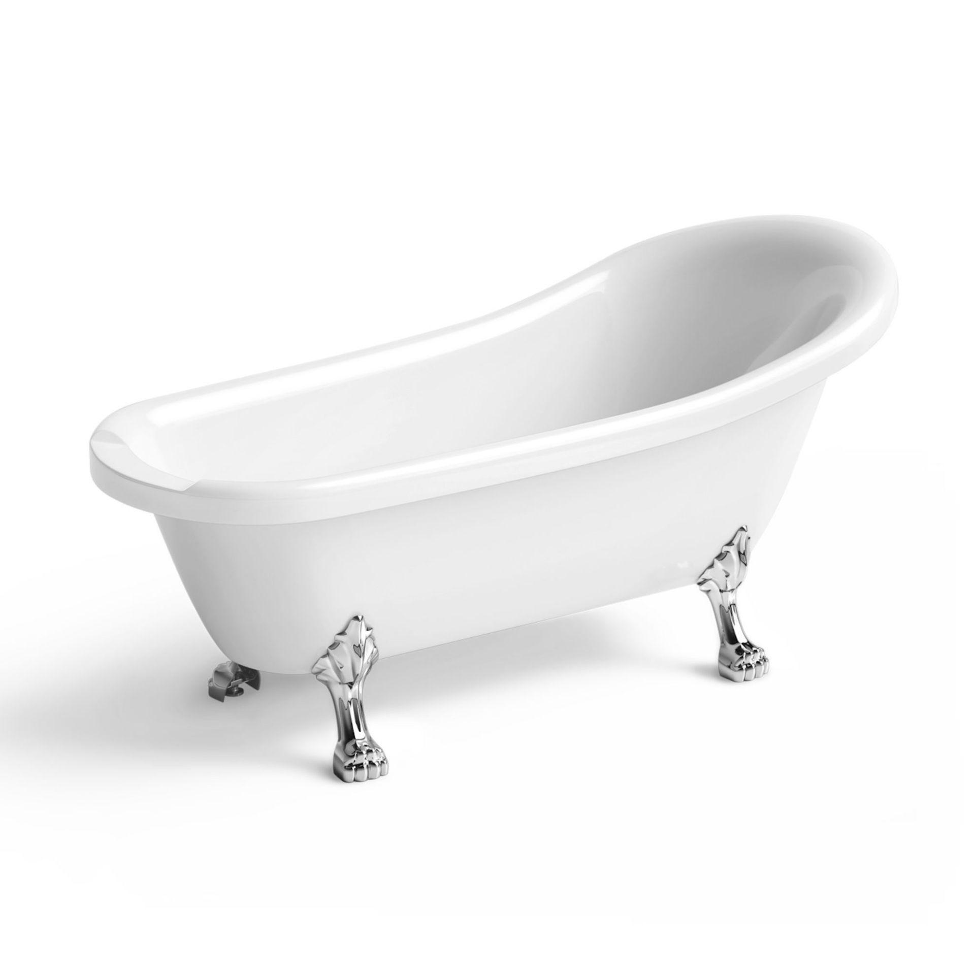 Lot 9 - (XX9) 1550mm Cambridge Traditional Roll Top Slipper Bath - Dragon Feet. RRP £699.99. Bath manu...