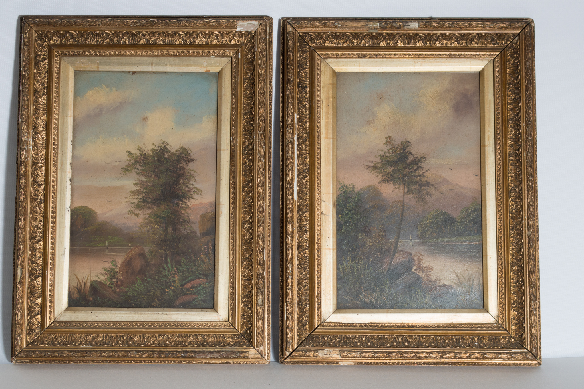 Lot 30 - A pair of early 20th century oils