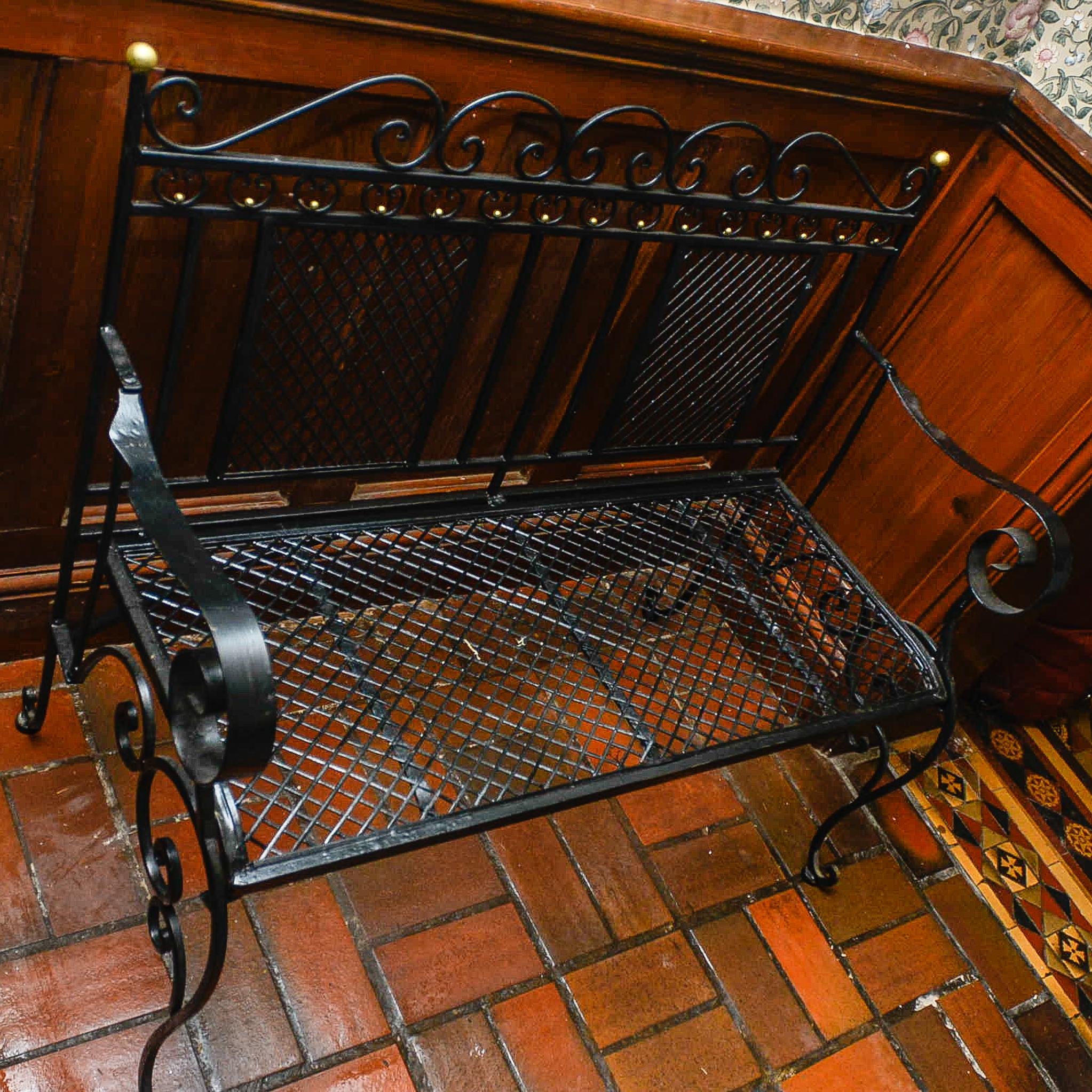 Lot 3 - Hand Finished Ornate Metal Garden Bench
