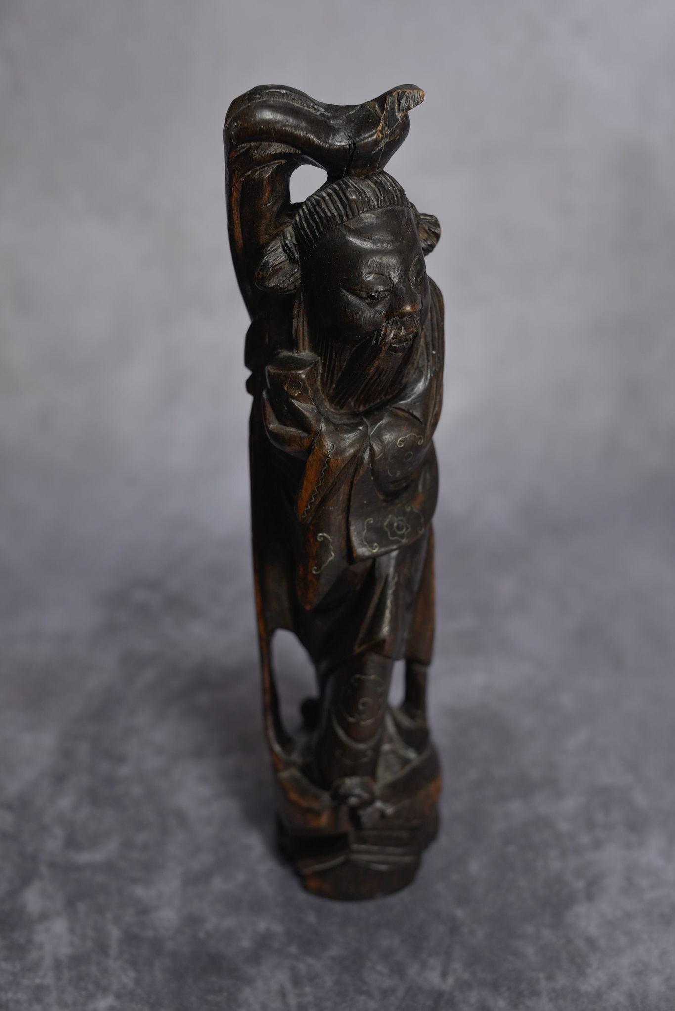 Lot 16 - Late 19Th Century Carved Fruitwood Chinese Longevity Figure