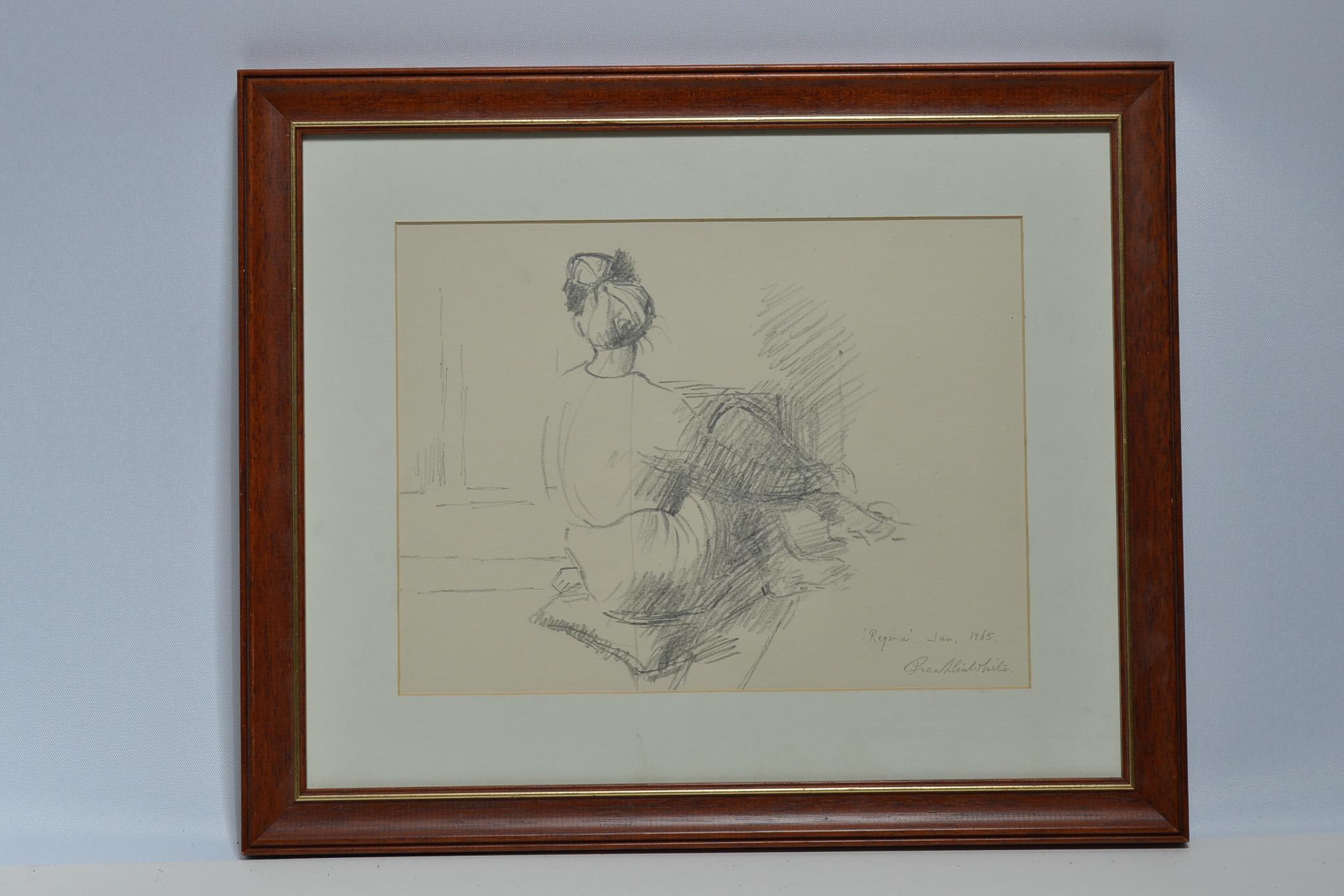 Lot 32 - Original signed pencil sketch by Franklin White