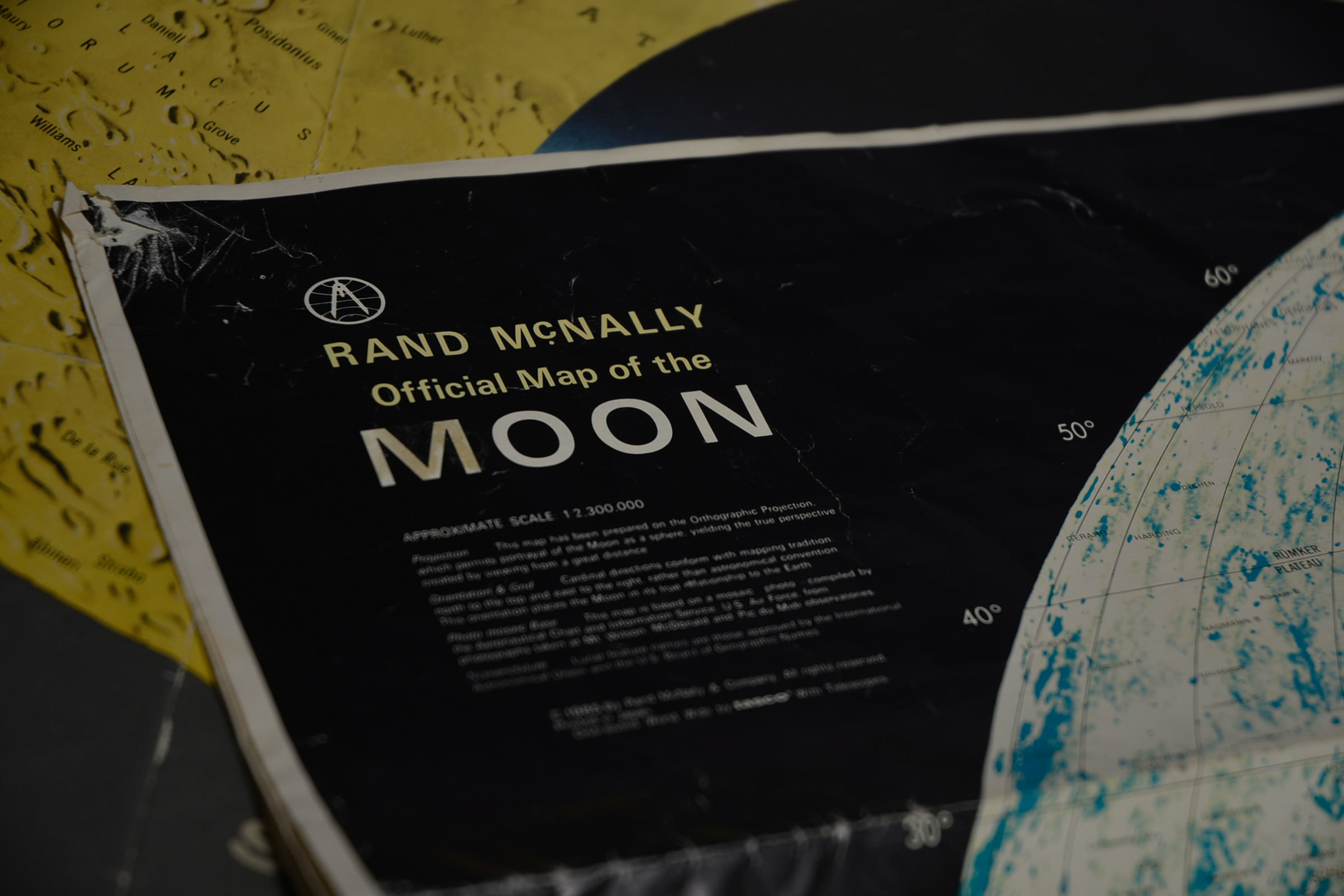 Lot 50 - 1960's Hand made Moon replica prototype and space/lunar charters