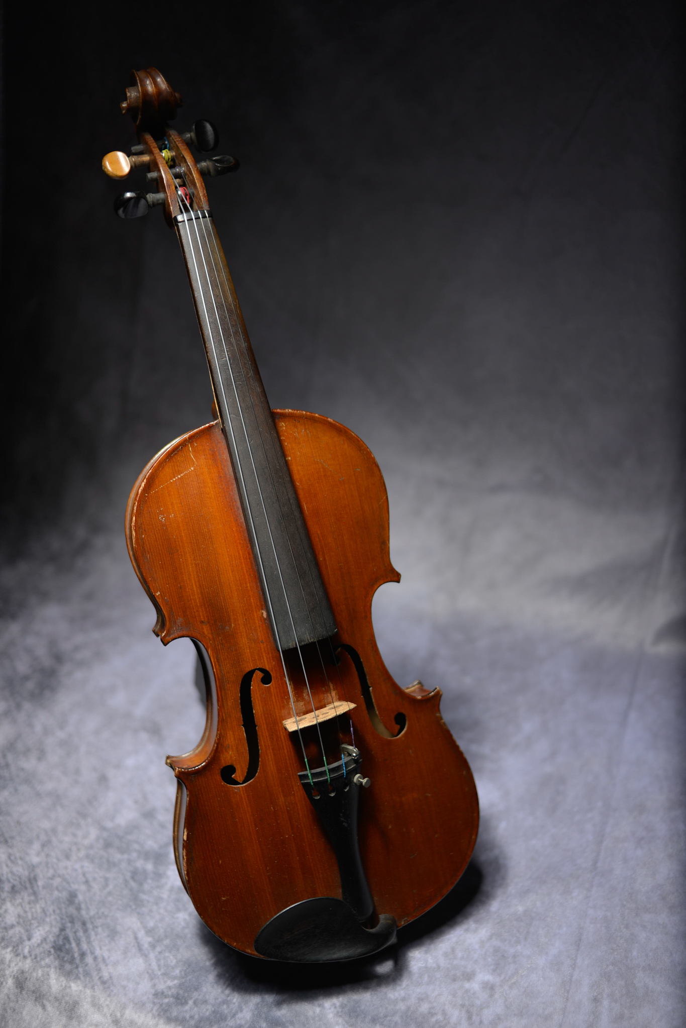 Lot 11 - Old Violin One Piece Back With Two Bows And Case.